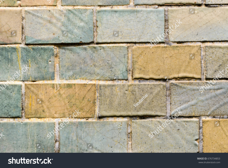Old Ceramic Tile Wall Ez Canvas