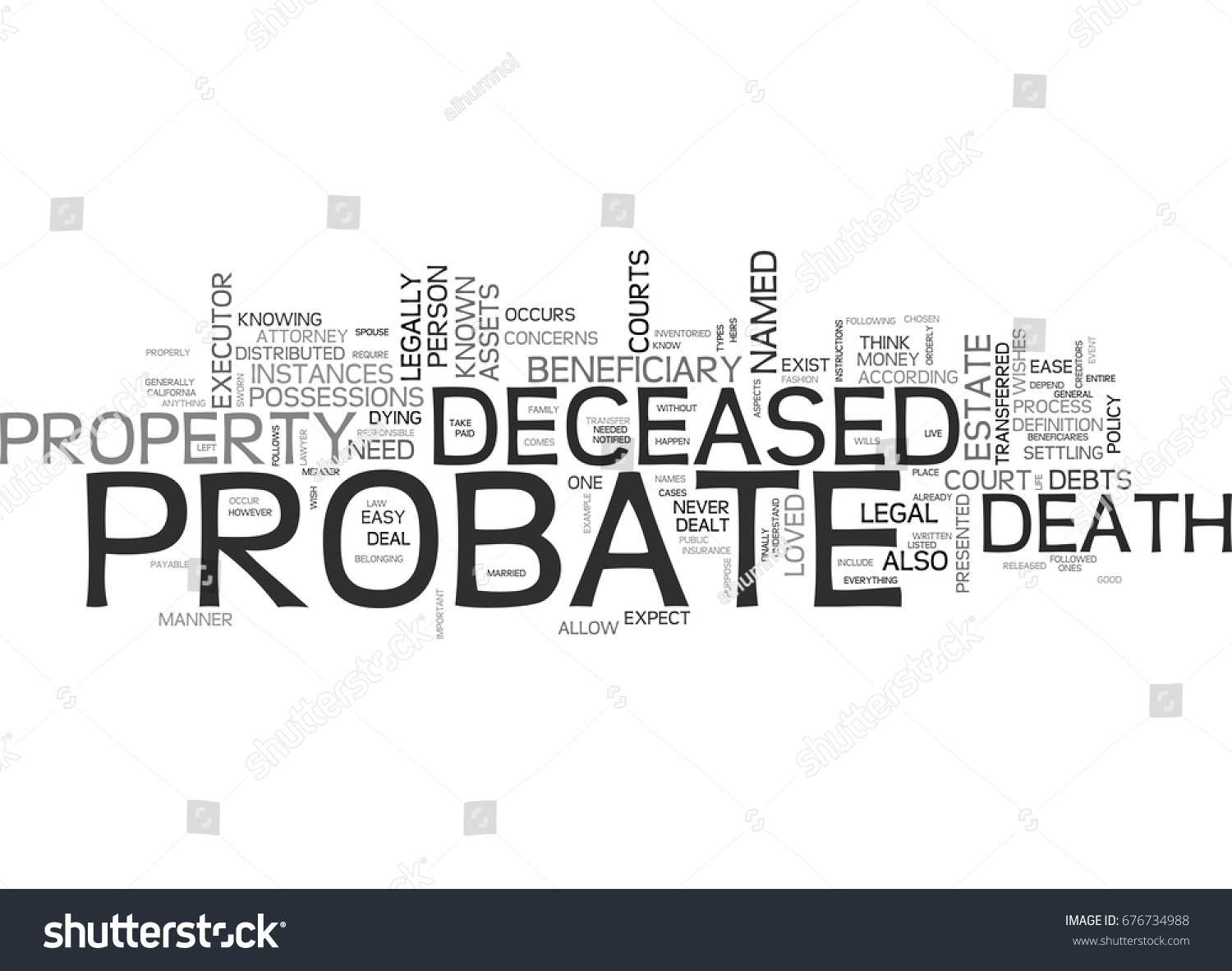 We assist with all probate, estate, deceased, death, named beneficiaries, property, courts, and law offices.