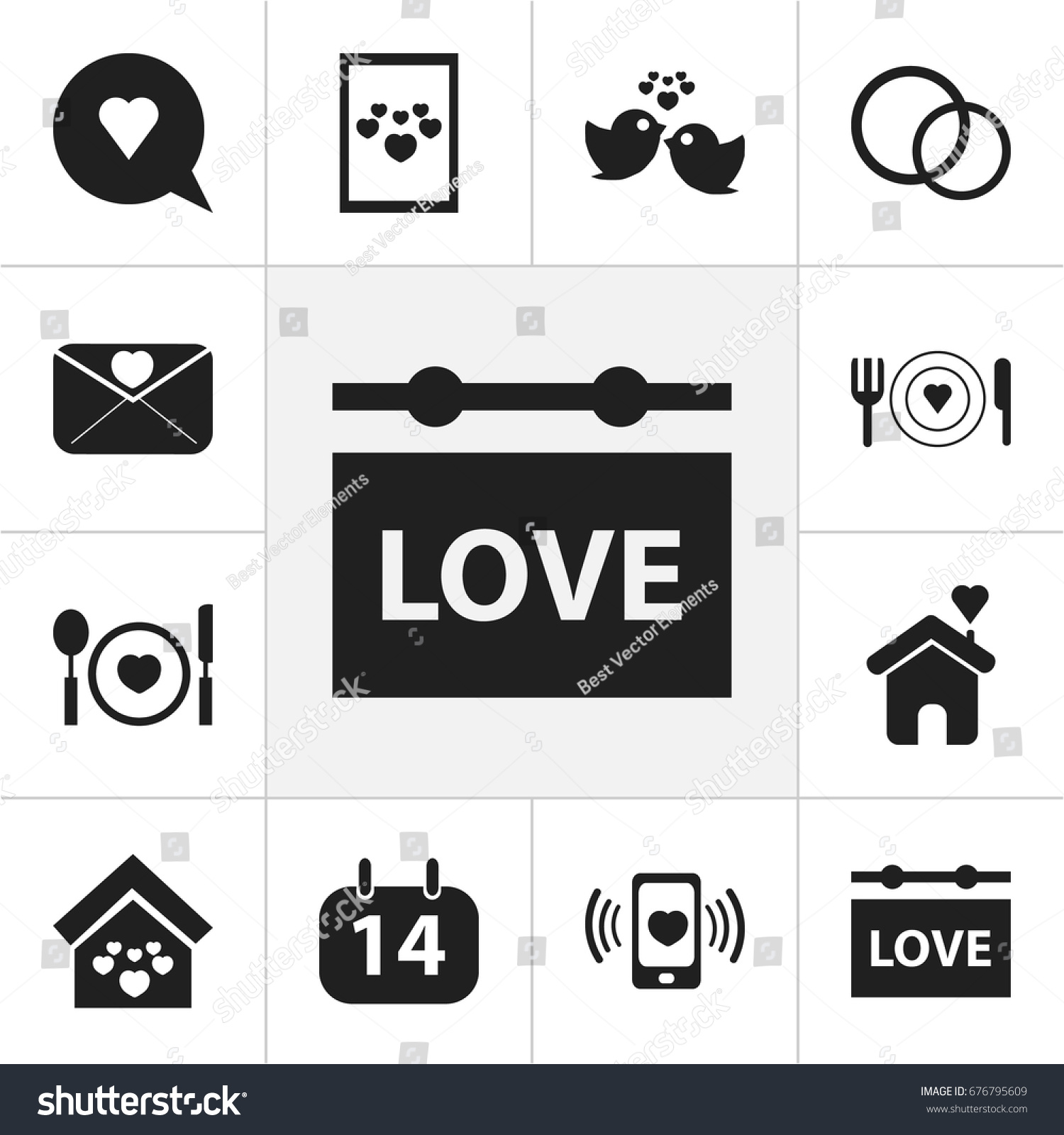 Set 12 Editable Amour Icons Includes Stock Vector Royalty Free