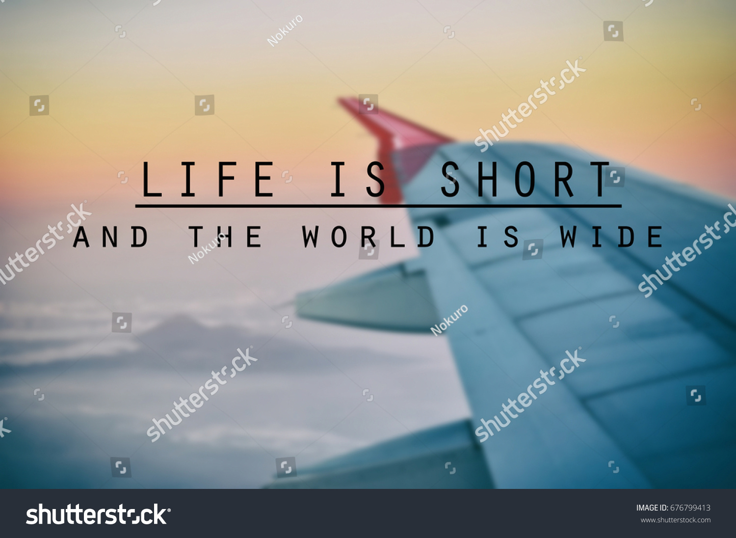 Inspirational Quotes Phrase Life Short World Stock Photo Edit Now