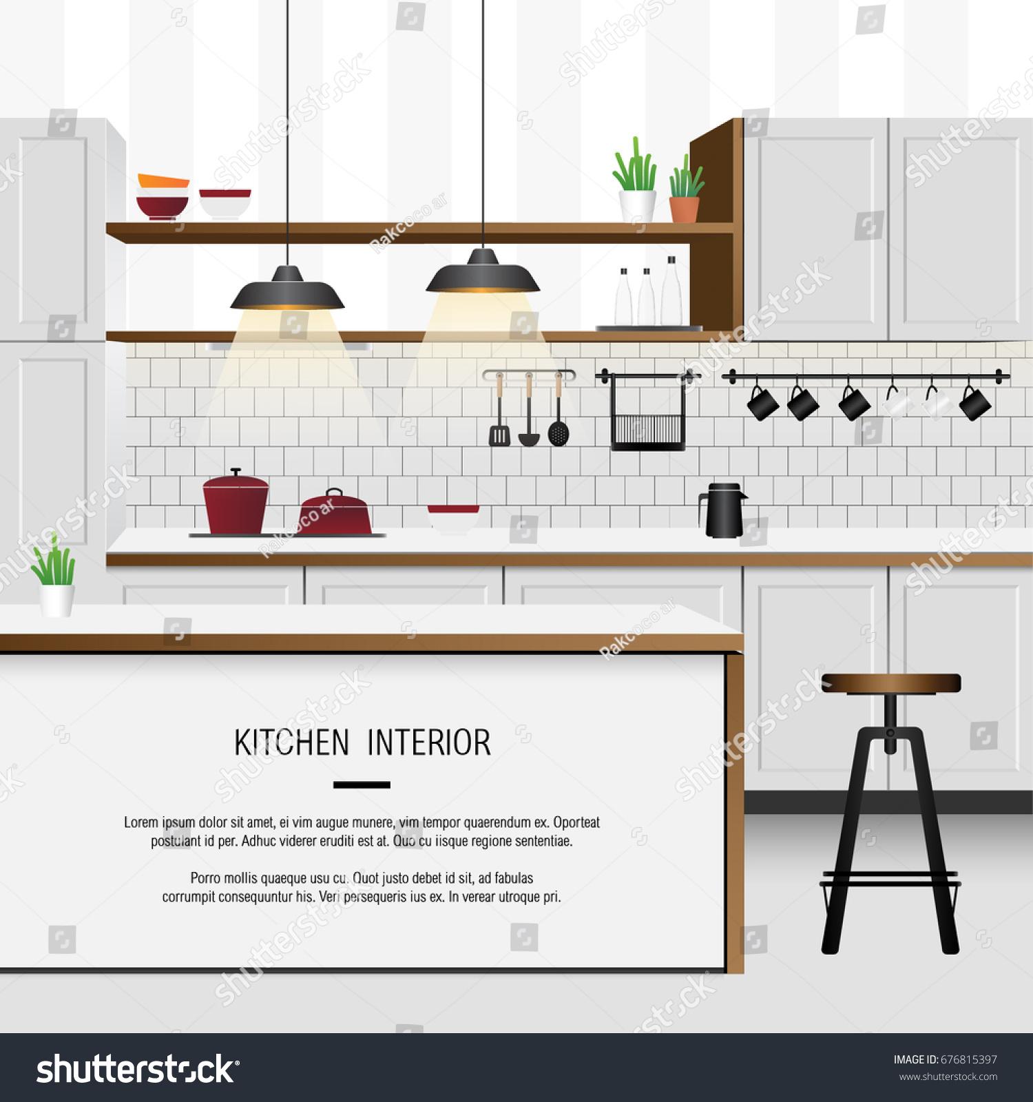 White Minimal Kitchen Interior