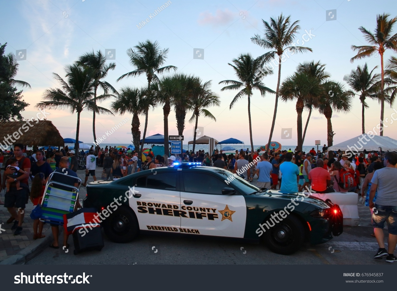 broward county sheriff police car lights stock photo (royalty free