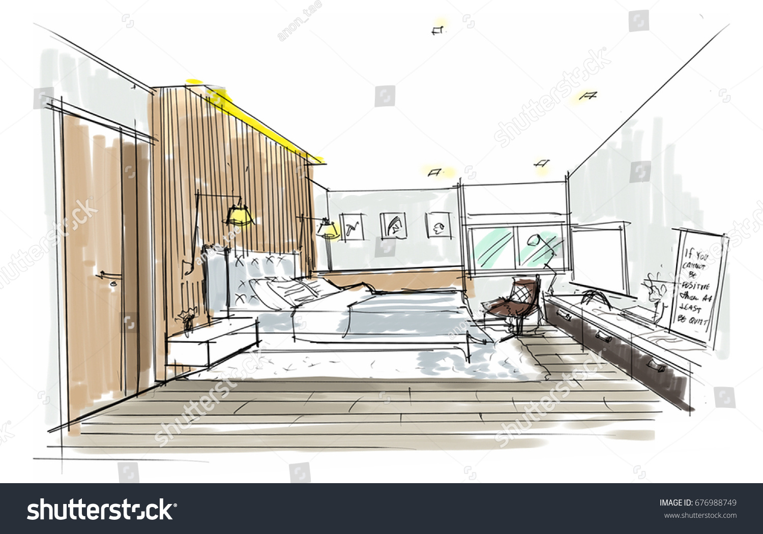 Home Interior Furniture Sofa Armchair Table Stock Illustration ...