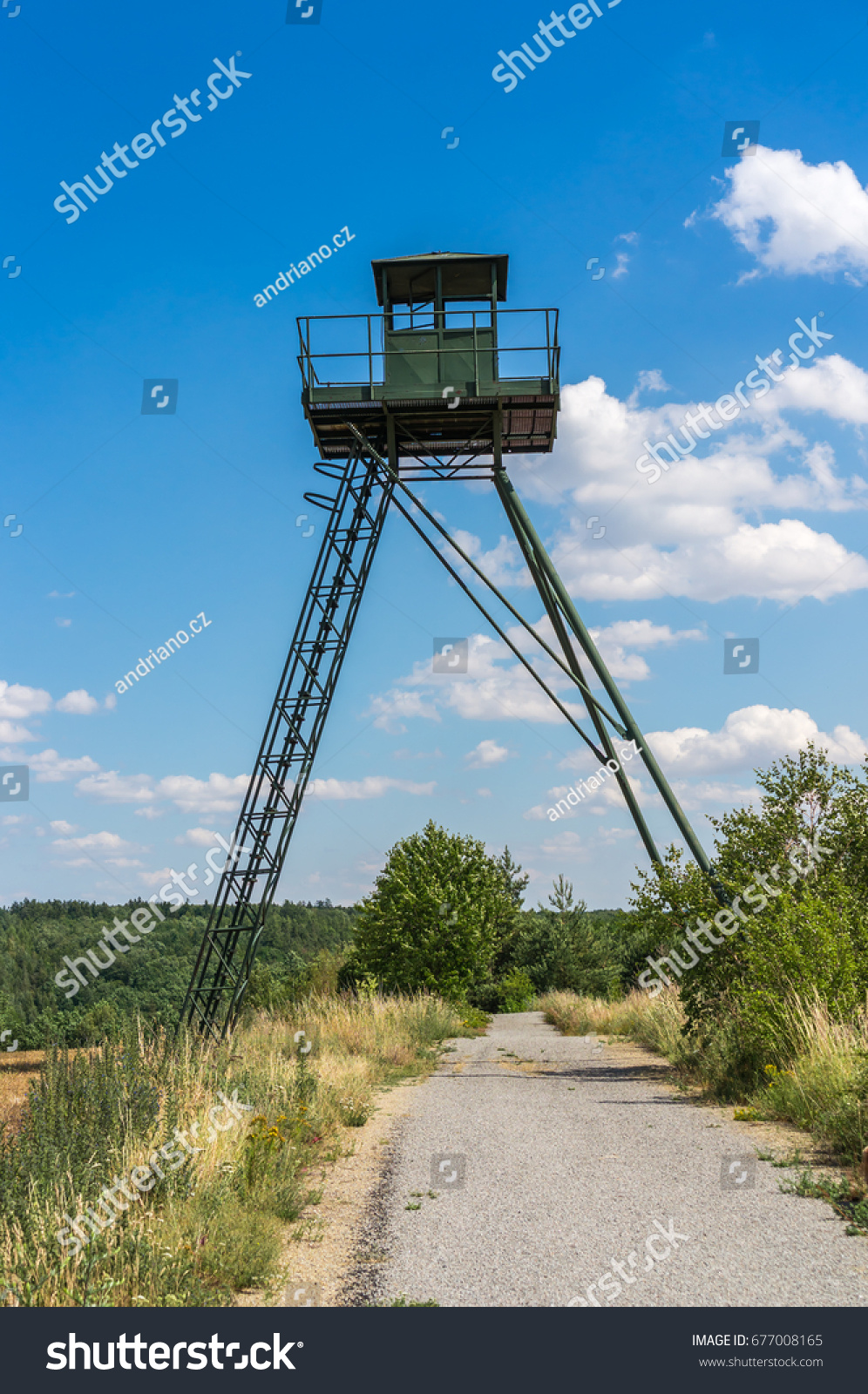 Remains Iron Curtain Watchtower Czech Republic Stock Photo (Edit Now ...