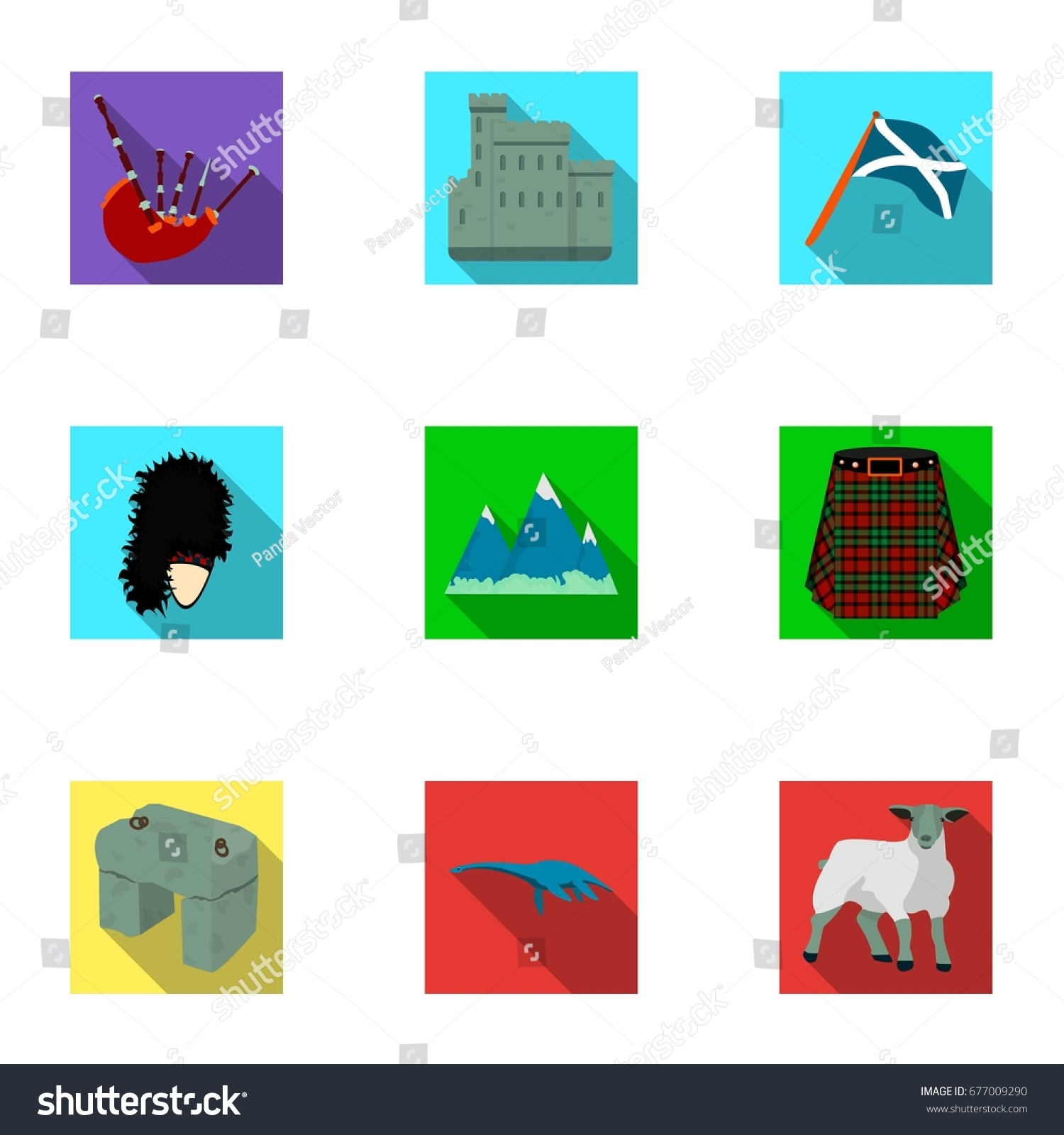 National Symbols Scotland Scottish Attractions Scotland Stock
