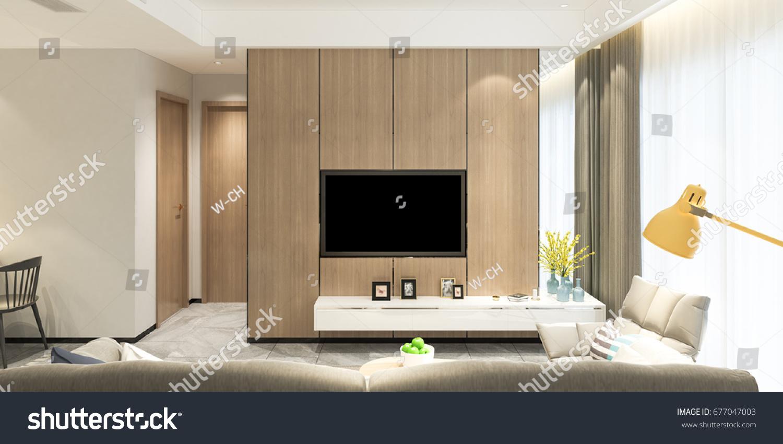 modern living room sofa tv onのイラスト素材 677047003 shutterstock