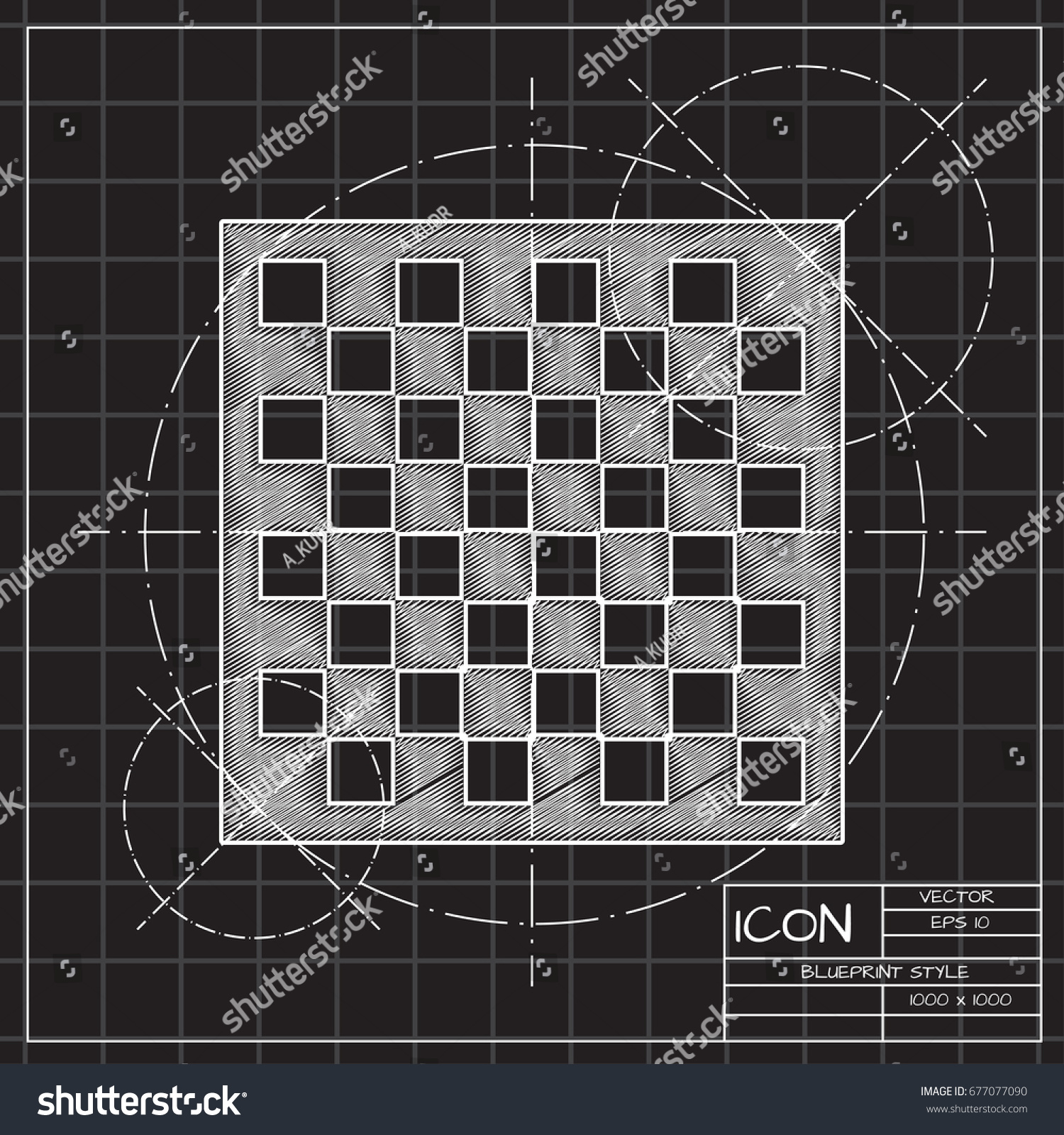 Vector blueprint checkers board icon on stock vector 2018 vector blueprint checkers board icon on engineer and architect background malvernweather Image collections