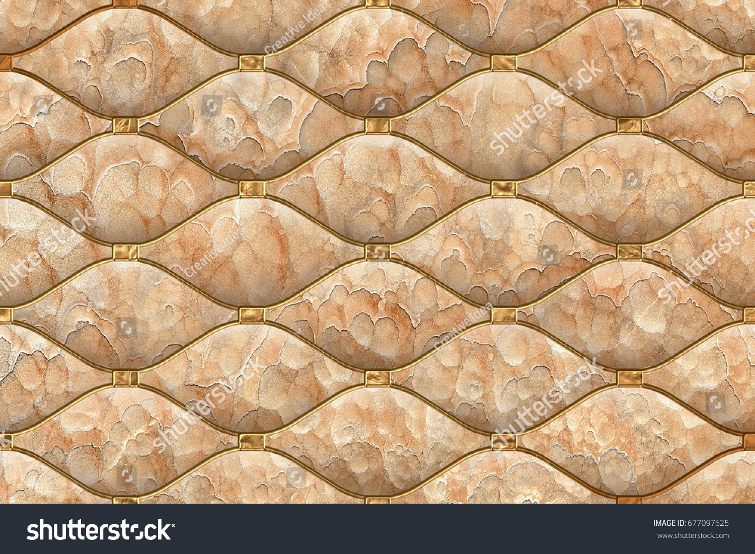 Abstract Home Decorative 3 D Wall Tiles Stock Illustration 677097625 ...
