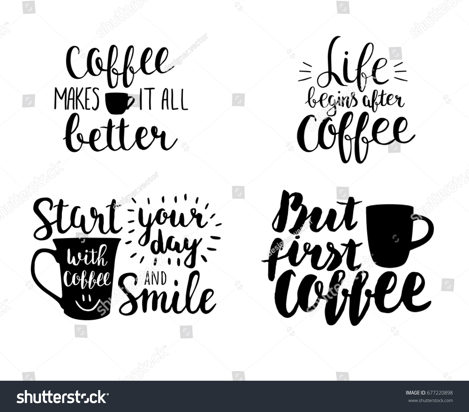 set vector hand drawing quotes about royalty stock image