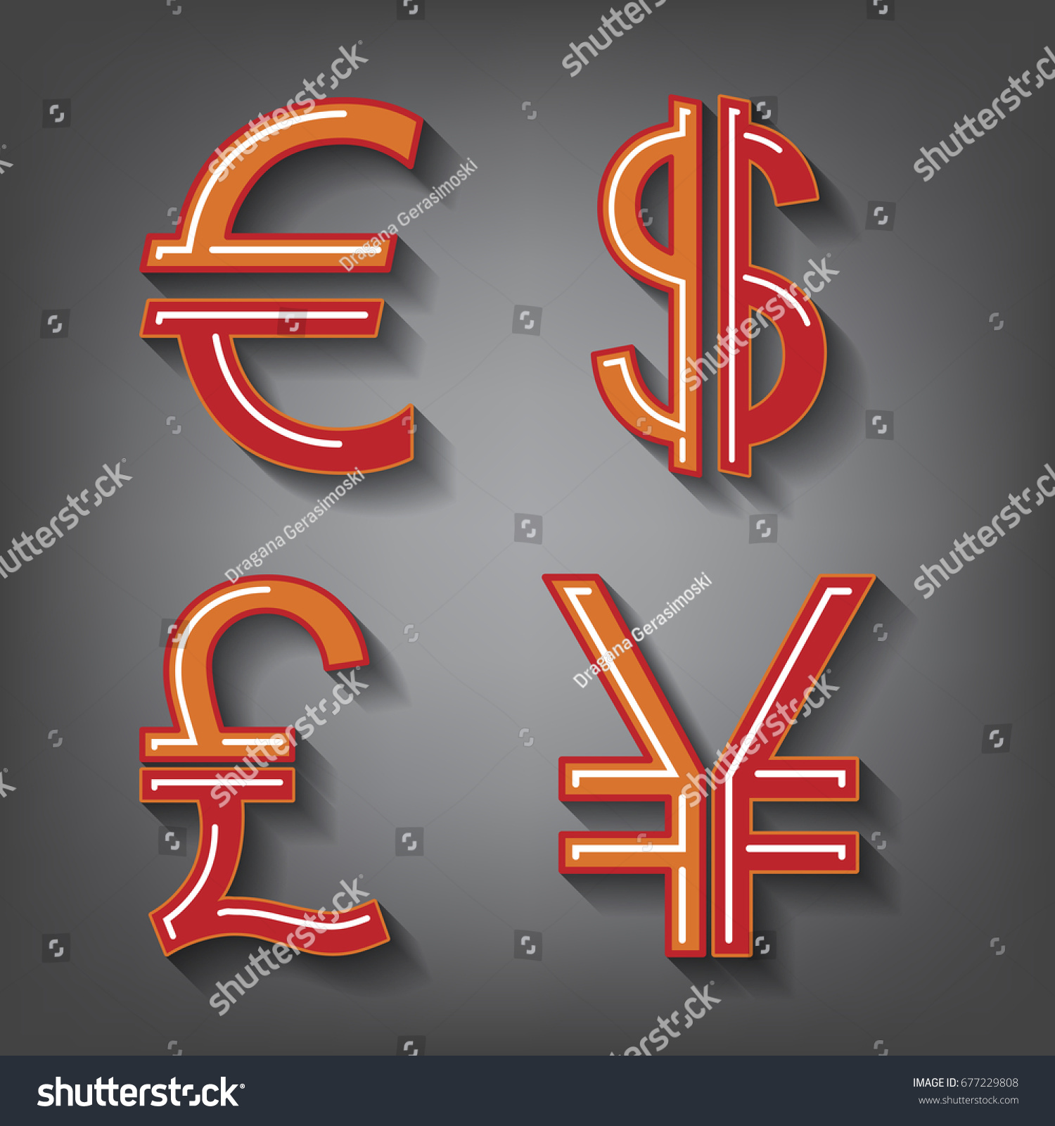 Dollar euro pound yen currency icons stock illustration 677229808 dollar euro pound and yen currency icons usd eur gbp and biocorpaavc Gallery