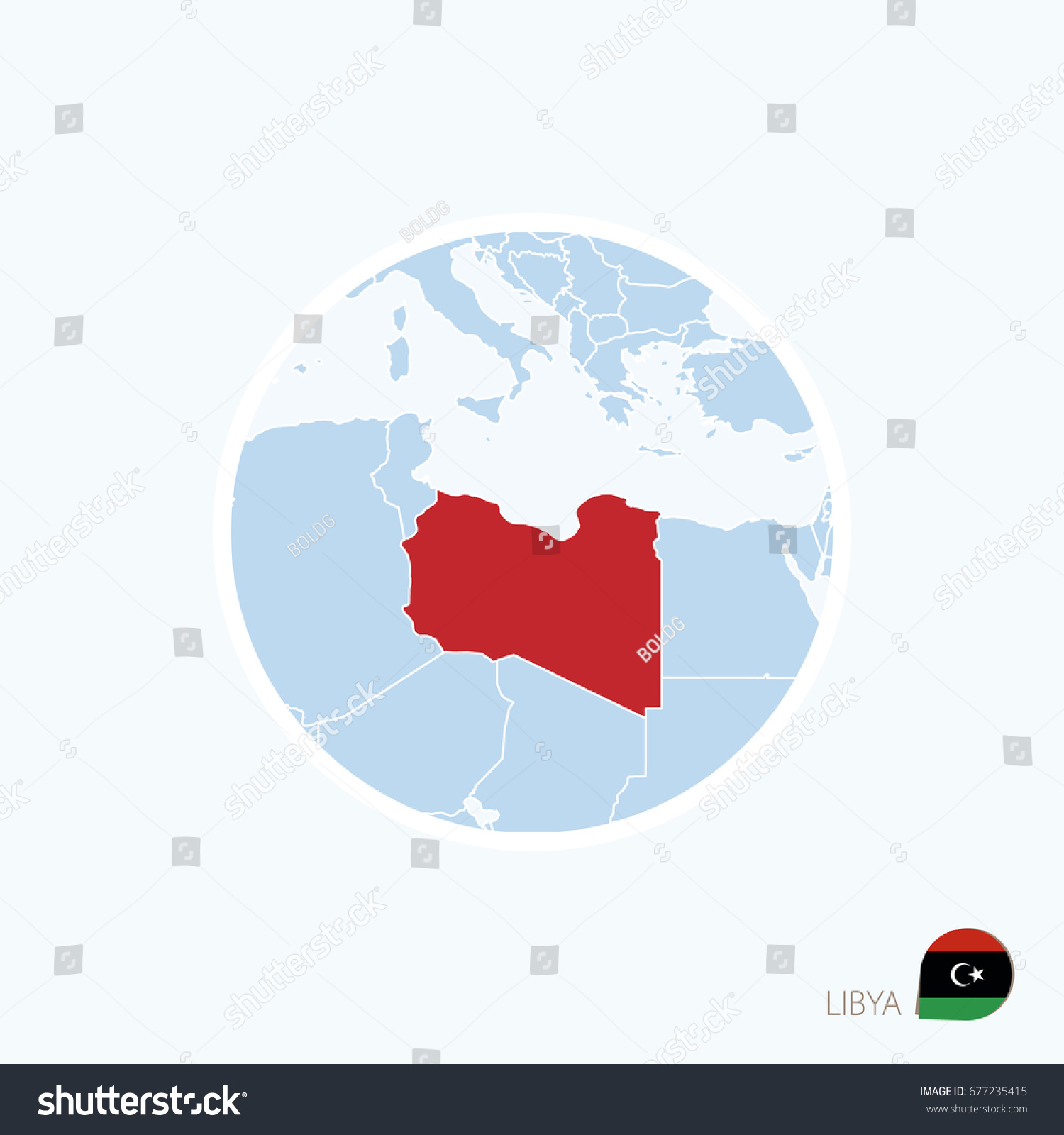 Map icon libya blue map europe stock illustration 677235415 map icon of libya blue map of europe with highlighted tripoli in red color publicscrutiny Image collections