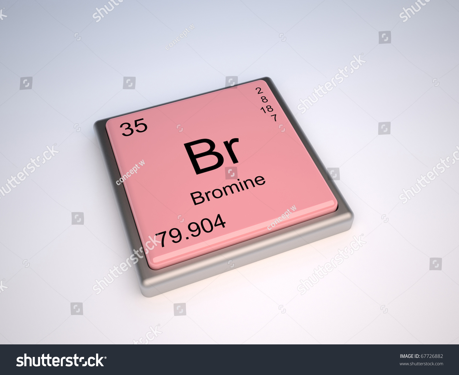 Bromine chemical element periodic table symbol stock illustration bromine chemical element of the periodic table with symbol br gamestrikefo Gallery