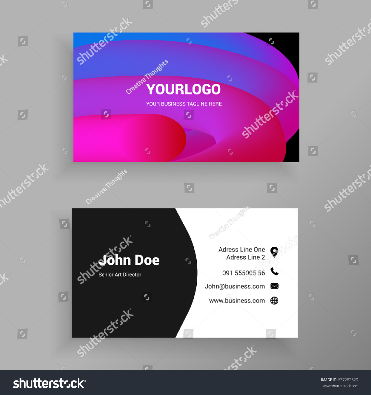Colorful 3d Blend Minimal Trendy Business Stock Vector 677282629 ...