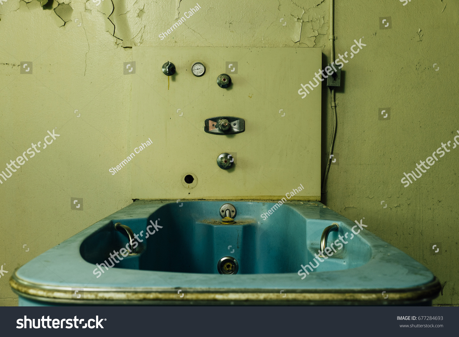 Interior View Disused Hydrotherapy Bathtub Long Stock Photo ...