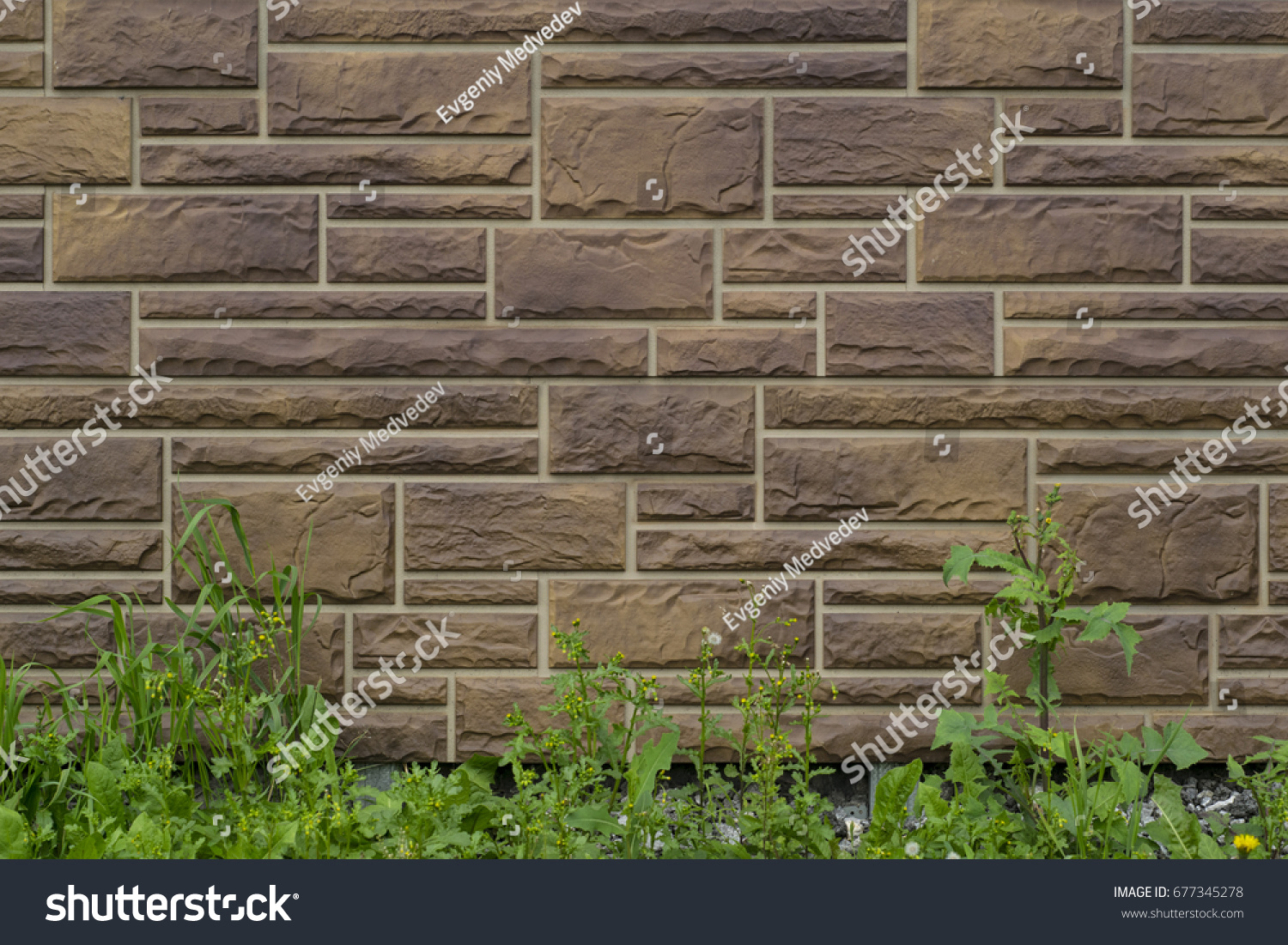 Best Wallpaper Brick Neutral - stock-photo-wallpaper-wall-brown-stone-neutral-grunge-with-grass-677345278  Graphic_845272.jpg