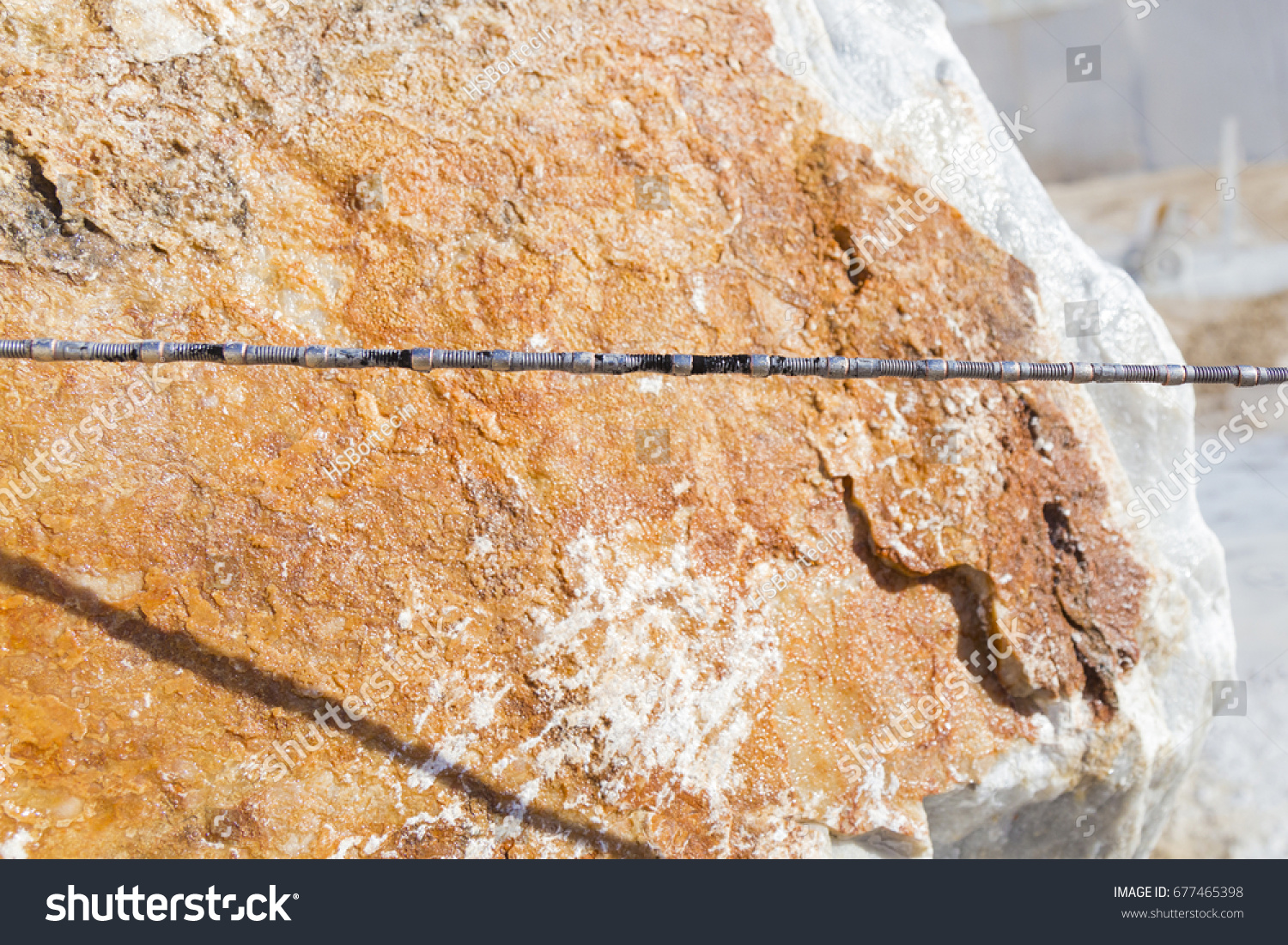 Diamond Wire Saw Marble Quarry Mostly Stock Photo (Safe to Use ...