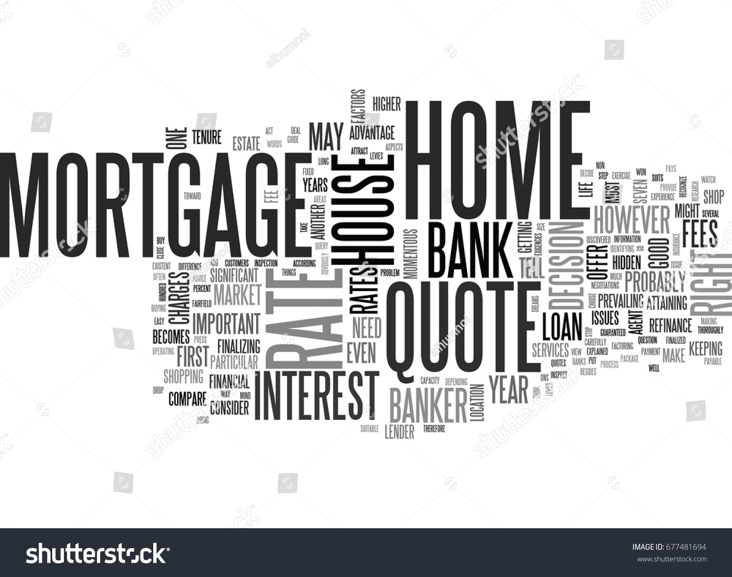 Mortgage Quote Classy What Bank Won T Tell You Stock Vector 677481694  Shutterstock