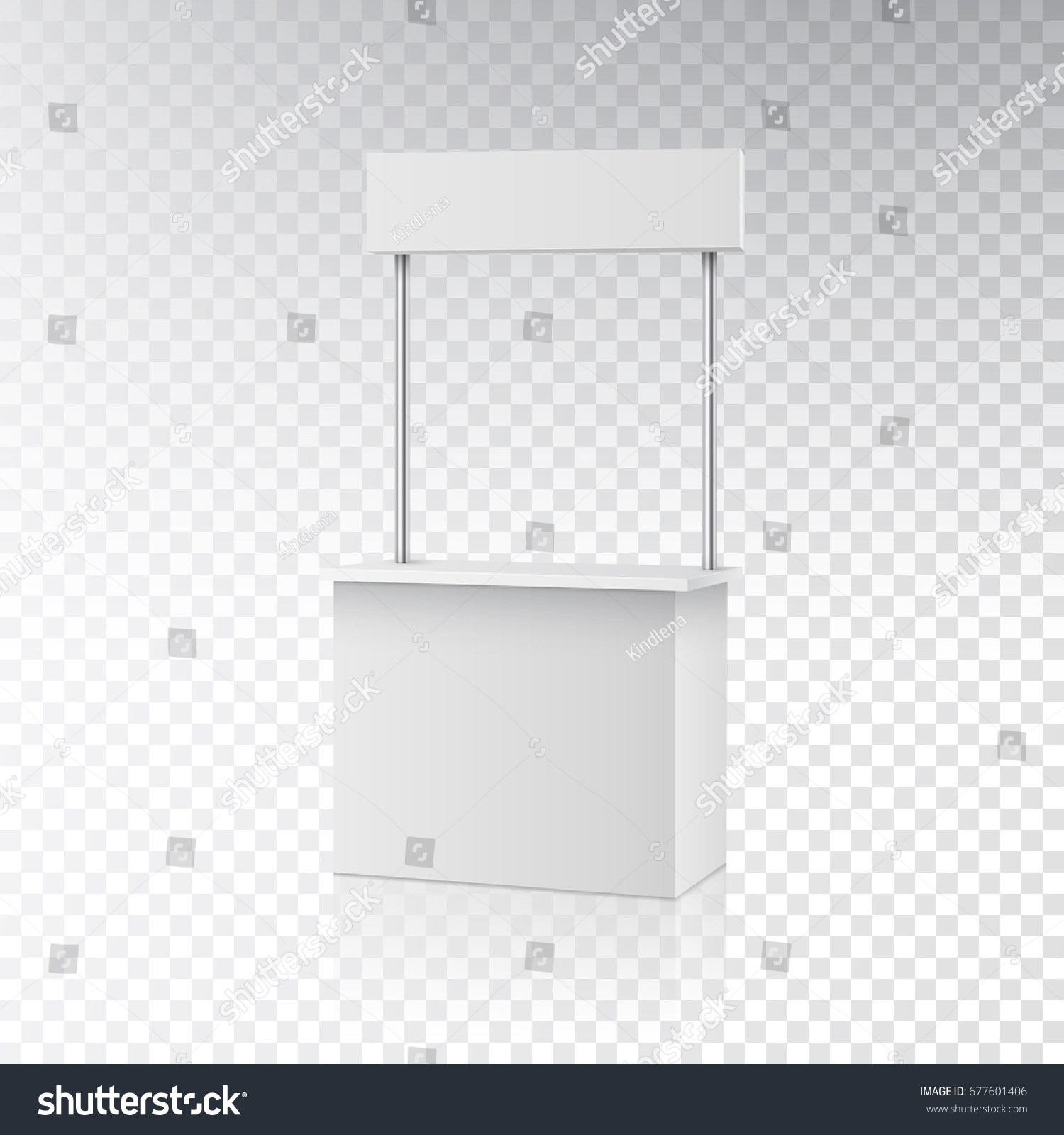 Exhibition Stall Background : Stall roll blank information promo booth stock vector