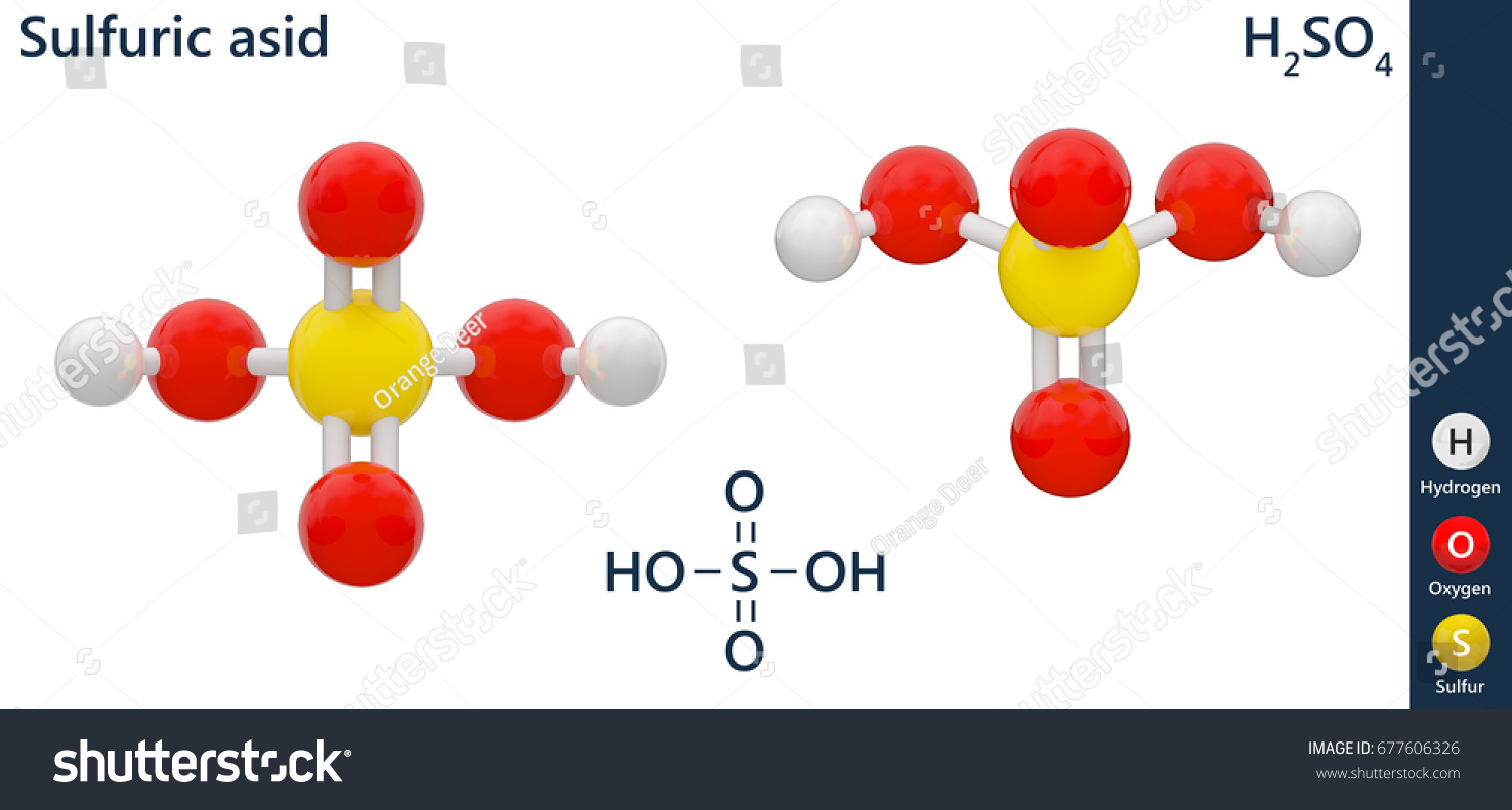 Sulfuric Acid Highly Corrosive Strong Mineral Stock Illustration