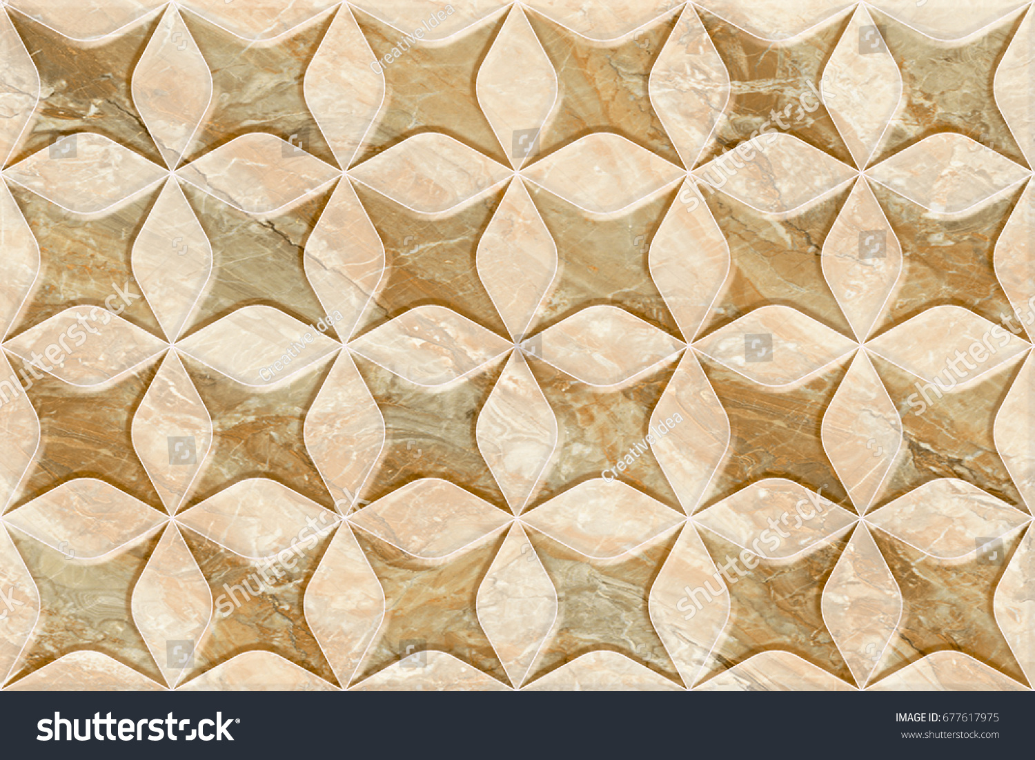 Abstract Ceramic Tile Patterns Background | EZ Canvas