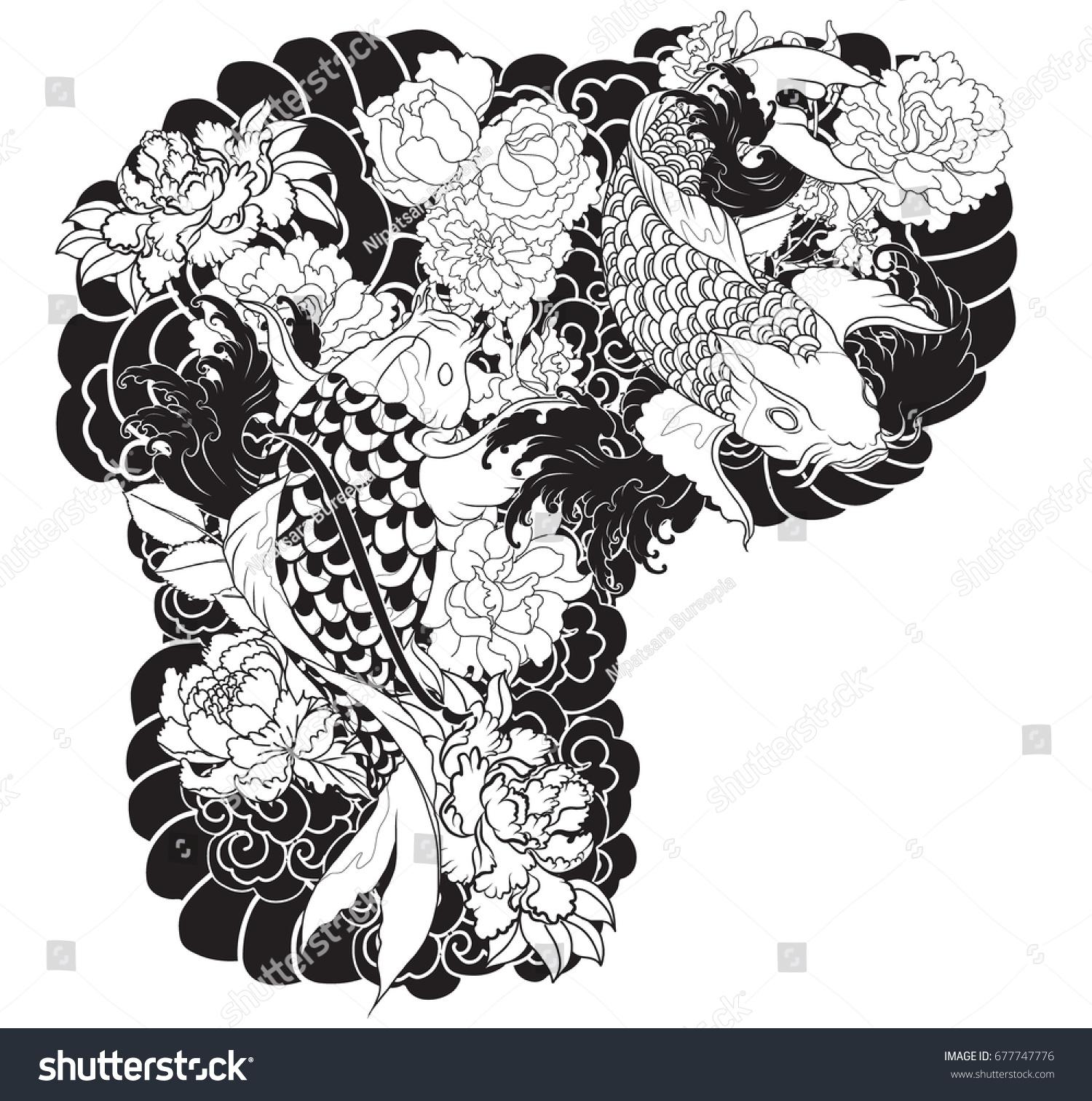 Tattoo design for upper arm to chestodle black koi carp with id 677747776 izmirmasajfo