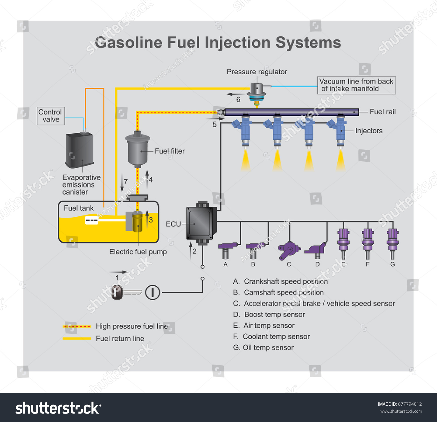 Gasoline Fuel Injection System Introduction Fuel Vector – Internal Combustion Engine Cooling System Diagram