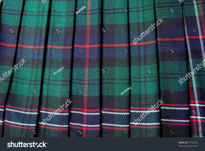 scottish tartan pattern part of a traditional kilt stock