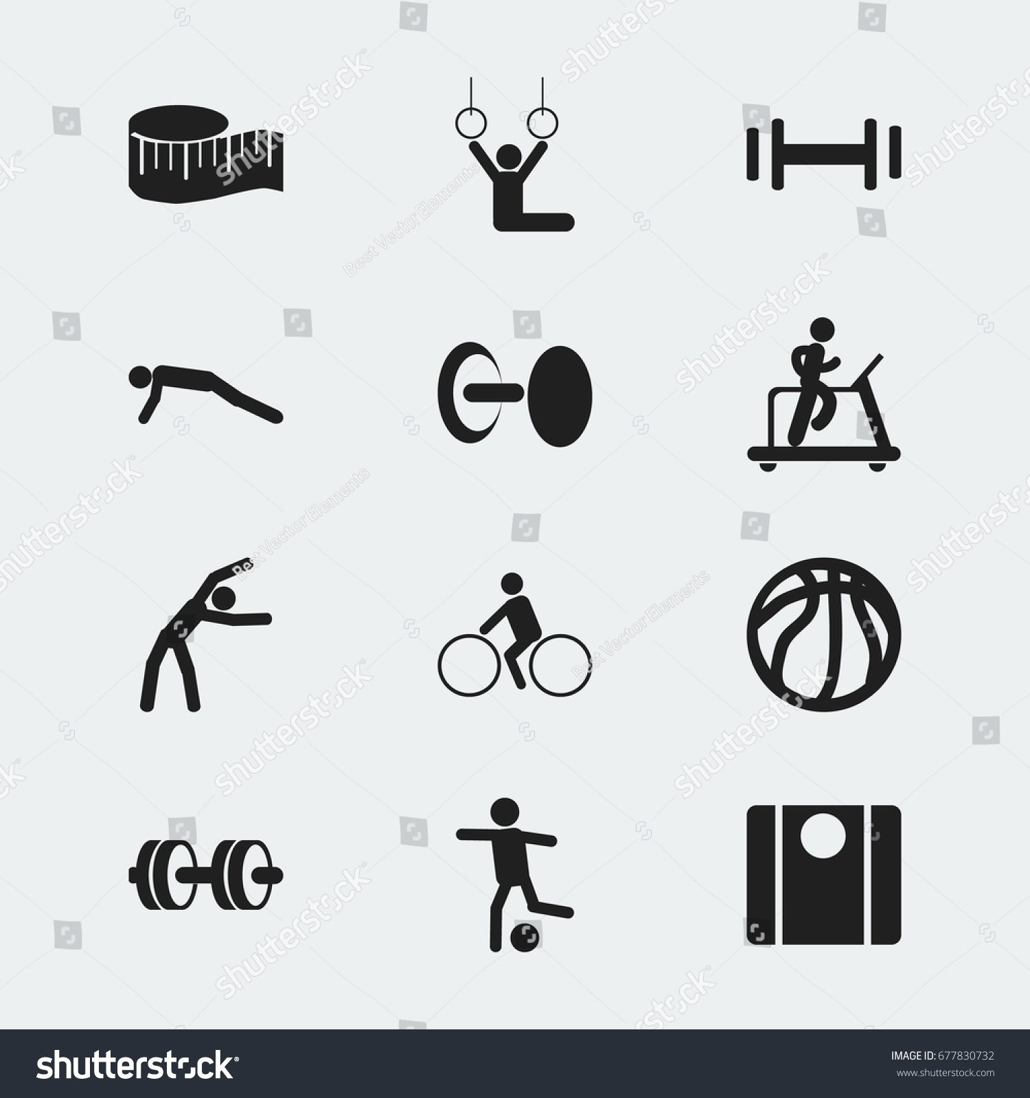 Set 12 Editable Healthy Icons Includes Stock Vector Royalty Free