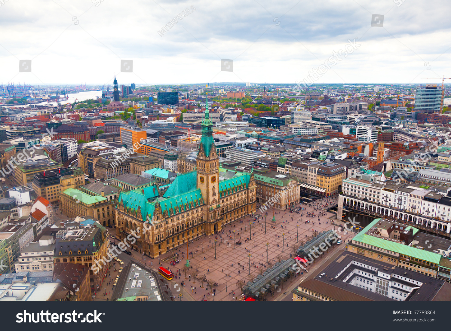 panorama of downtown hamburg germany stock photo 67789864 shutterstock. Black Bedroom Furniture Sets. Home Design Ideas