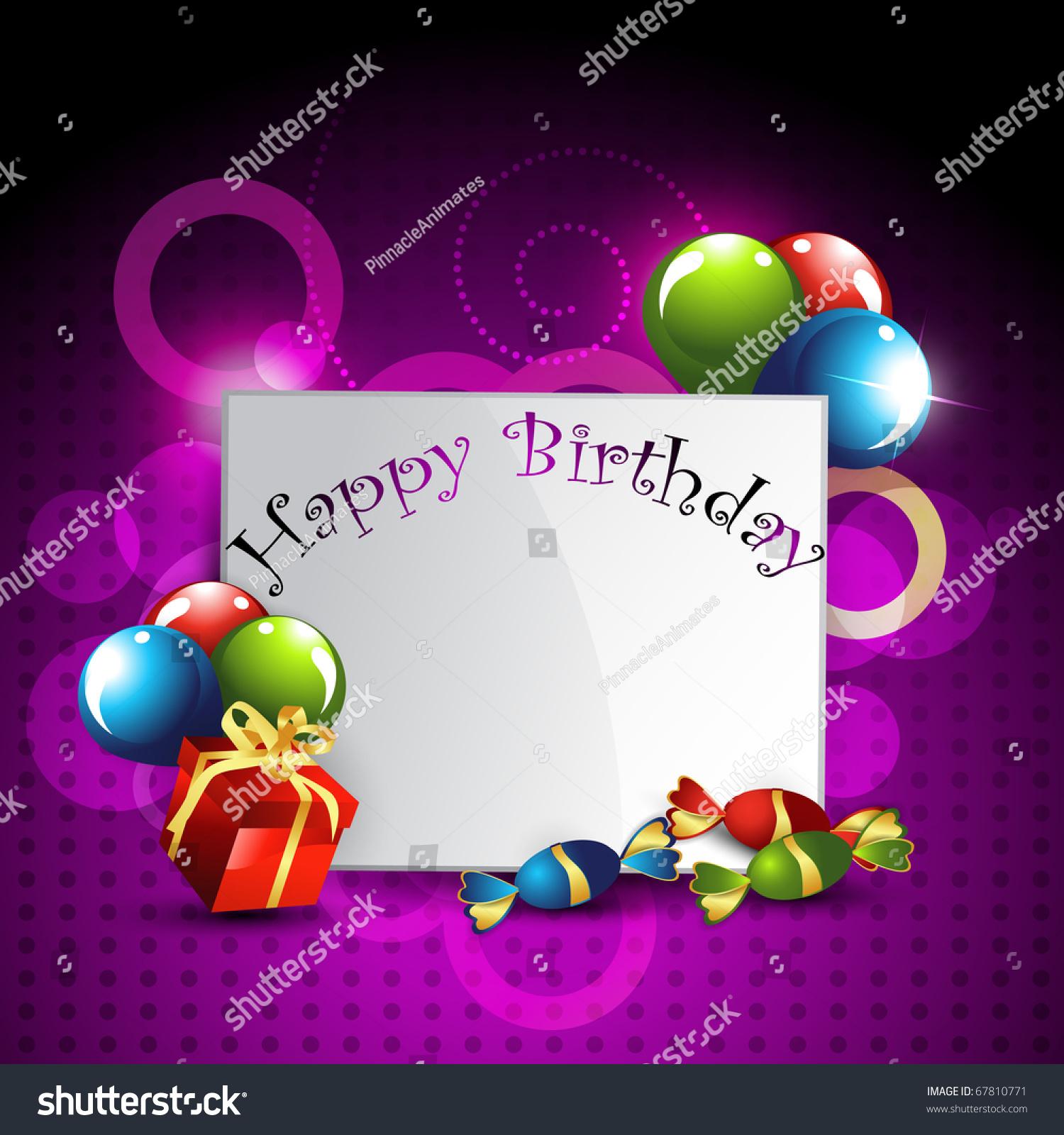 Vector Birthday Banner Design Art Stock Vector 67810771