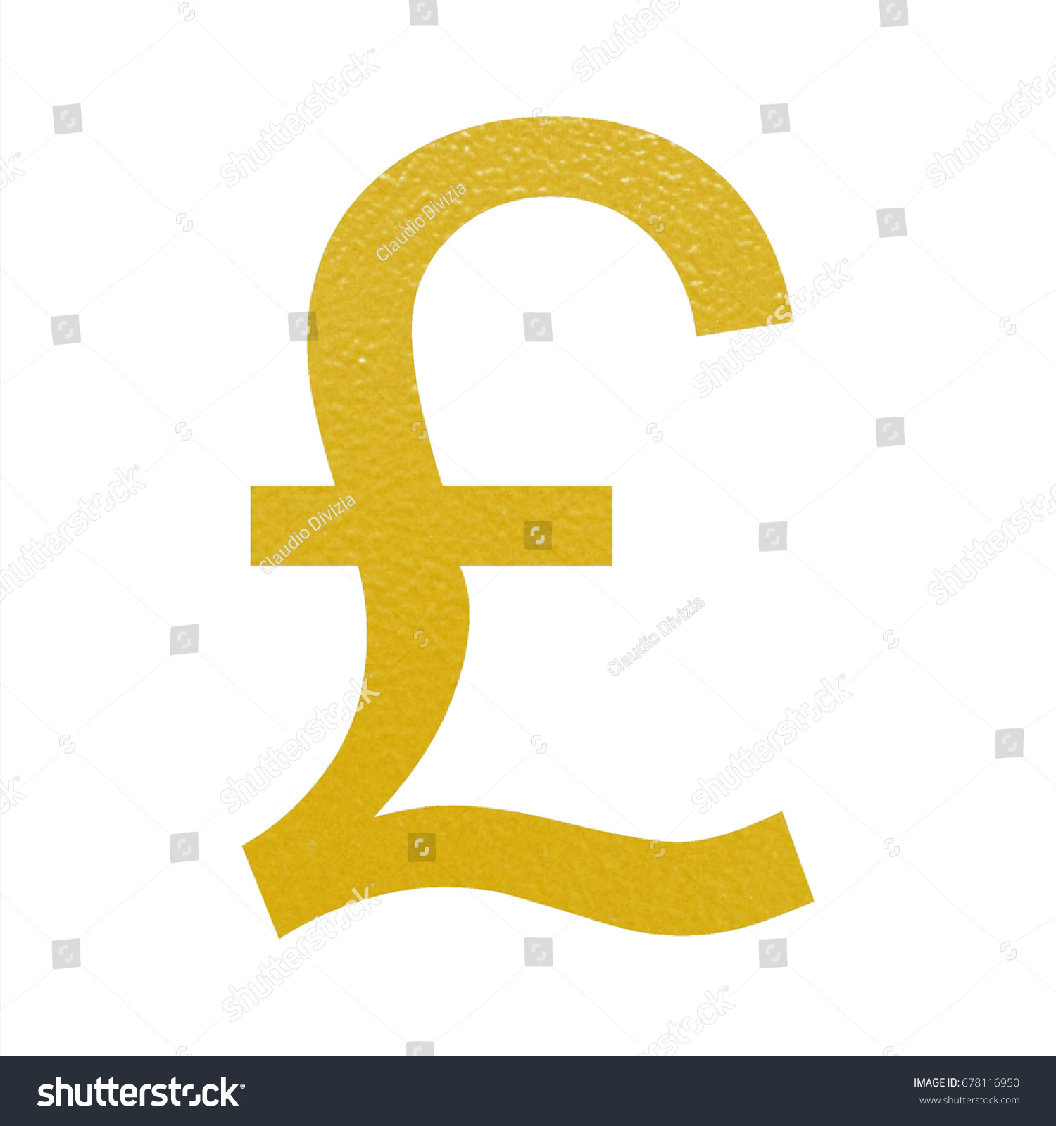 Golden Gbp British Pound Currency Symbol Stock Illustration