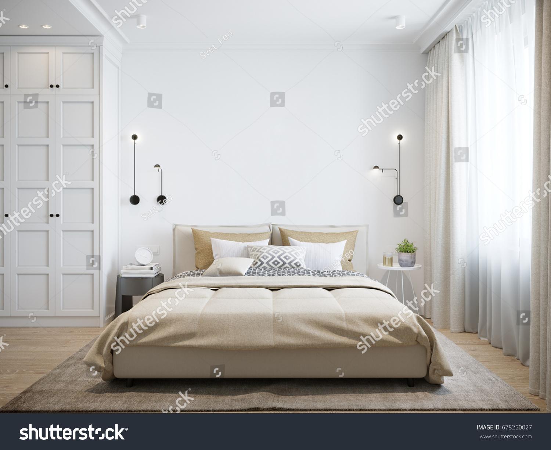 Urban Contemporary Modern Scandinavian Bedroom Interior