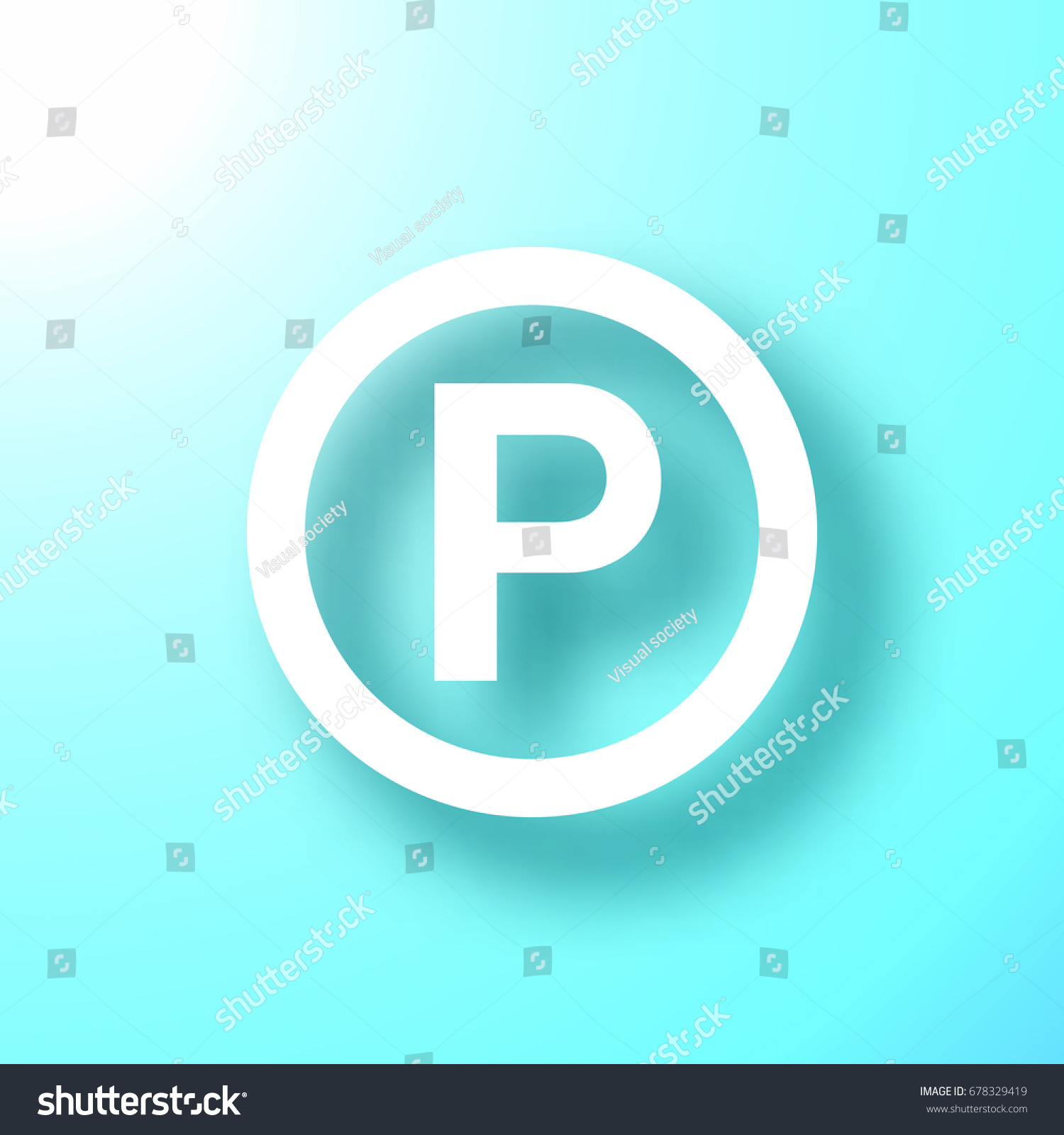 P sound recording copyright symbol isolated stock vector 678329419 p sound recording copyright symbol isolated on bright blue background with shadow vector illustration biocorpaavc