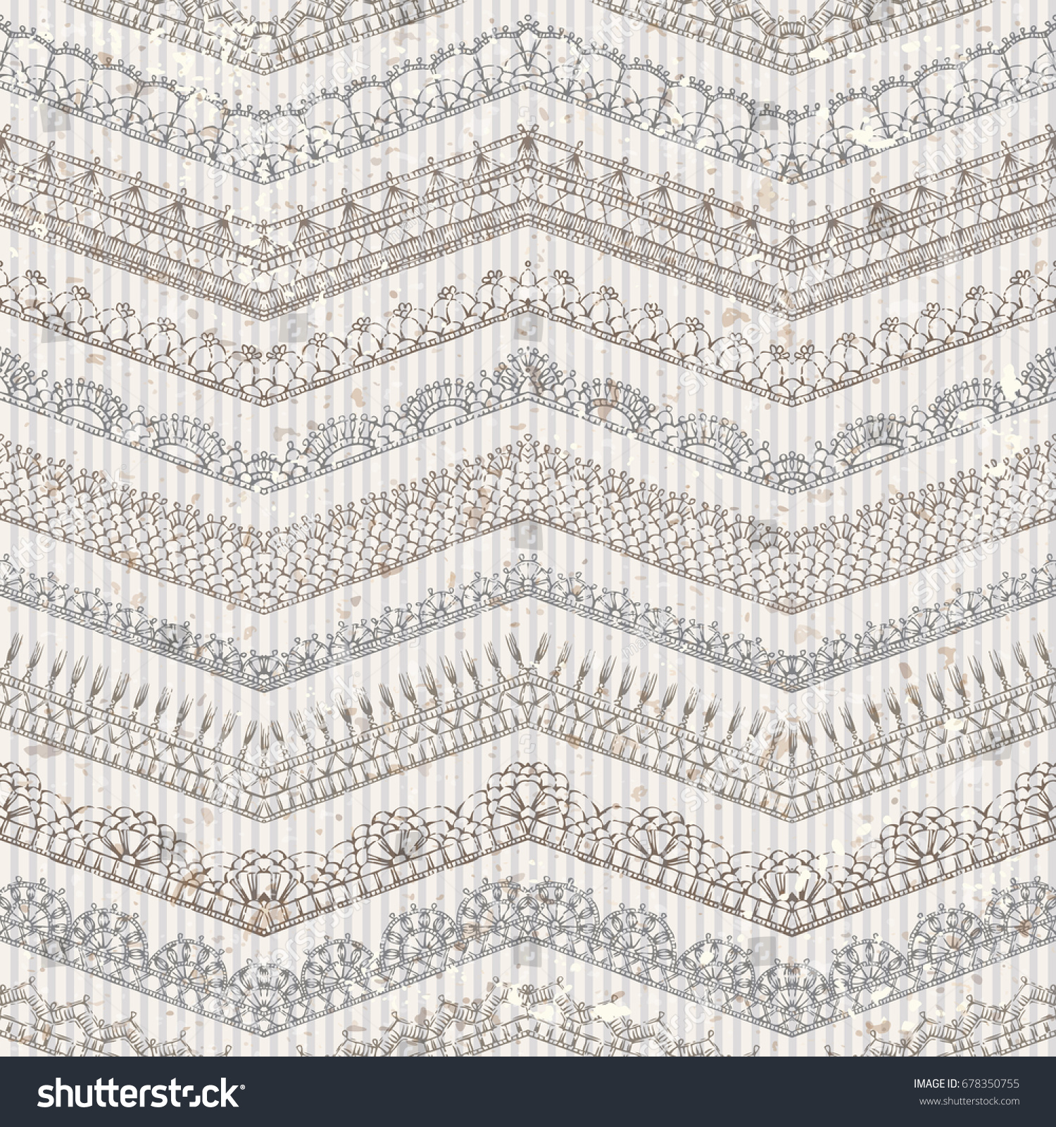 Vector vintage seamless pattern lacy crochet stock vector vector vintage seamless pattern of lacy crochet edges ornate horizontal zigzag edging and border patterns bankloansurffo Gallery