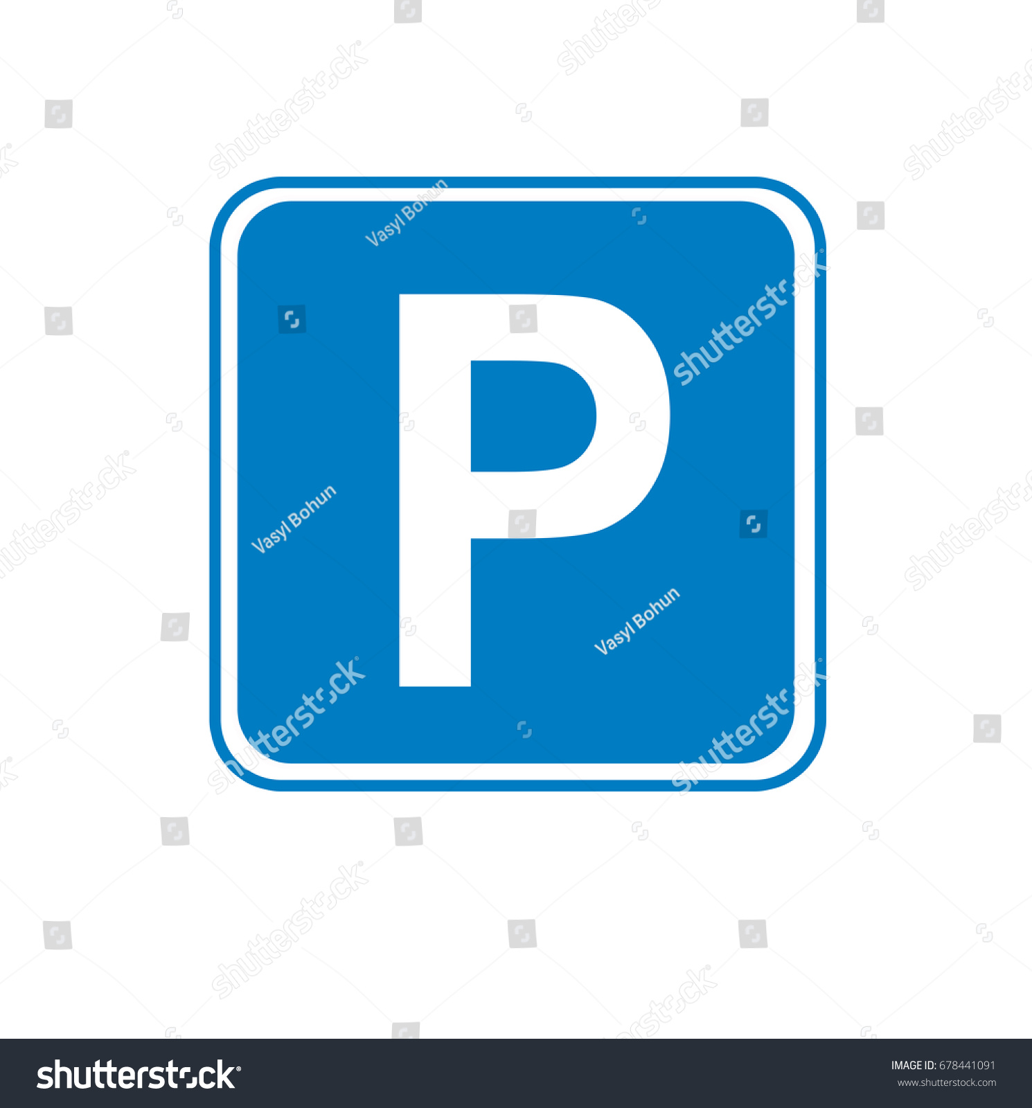 Symbol traffic parking on road parking stock illustration symbol of traffic parking on the road and parking area buycottarizona