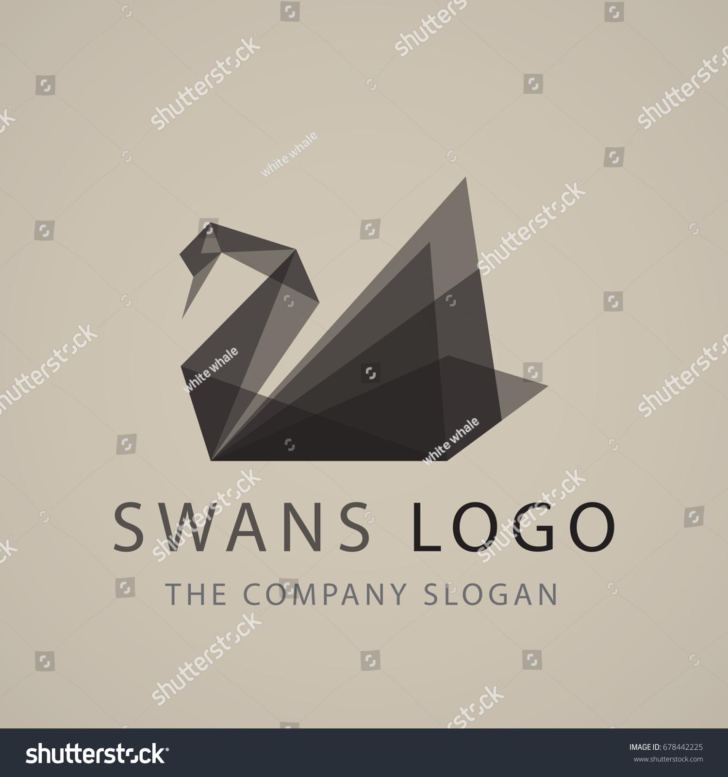 Black swan logo sign emblem origami stock vector 678442225 black swan logo sign emblem origami vector illustration jeuxipadfo Gallery