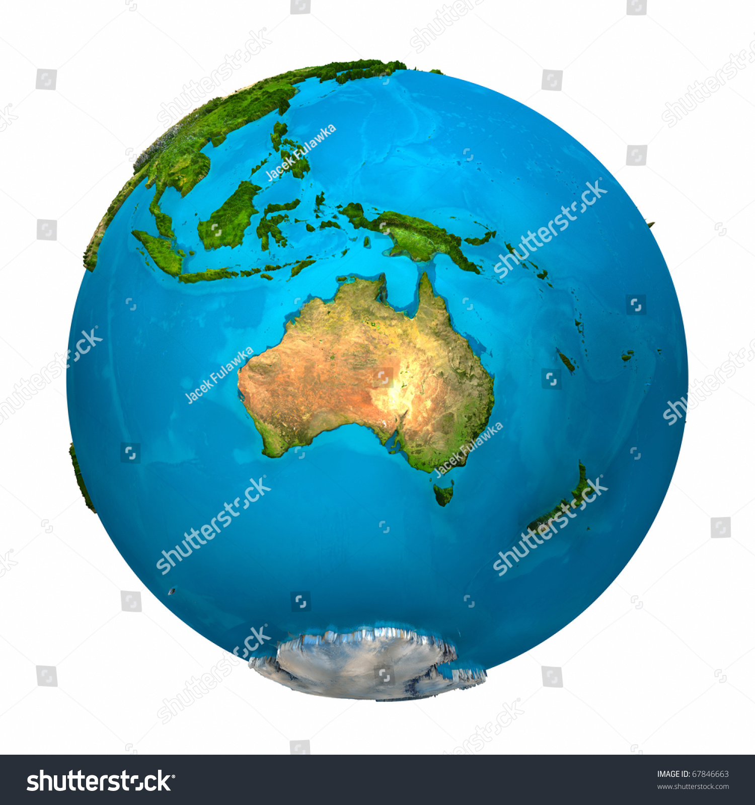 Planet earth australia colorful globe detailed stock illustration planet earth australia colorful globe with detailed and realistic surface 3d render gumiabroncs Image collections