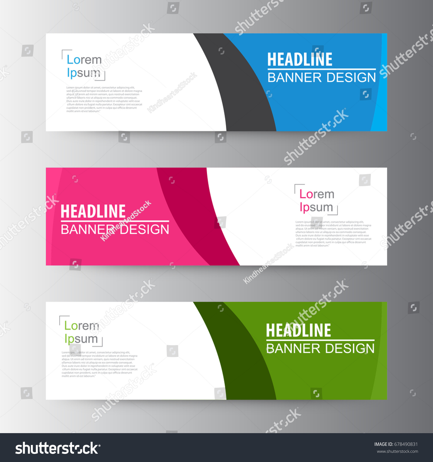 Abstract Geometric Vector Web Banner Design Stock Vector Royalty