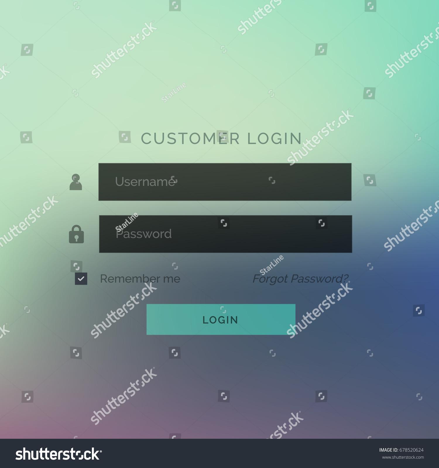 Modern Login Ui Form Template Design Stock Vector Royalty Free