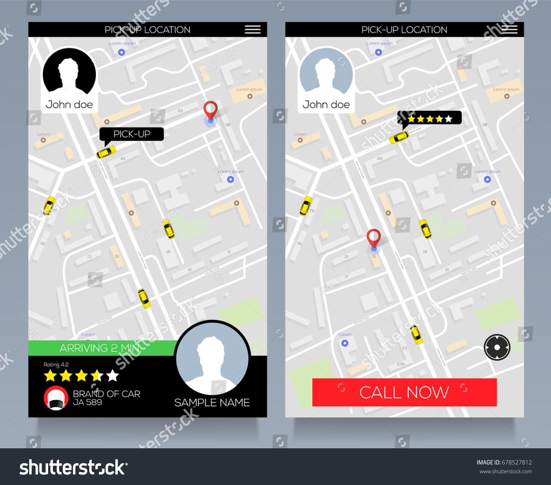 concept location service pick taxi service stock vector 678527812 shutterstock. Black Bedroom Furniture Sets. Home Design Ideas