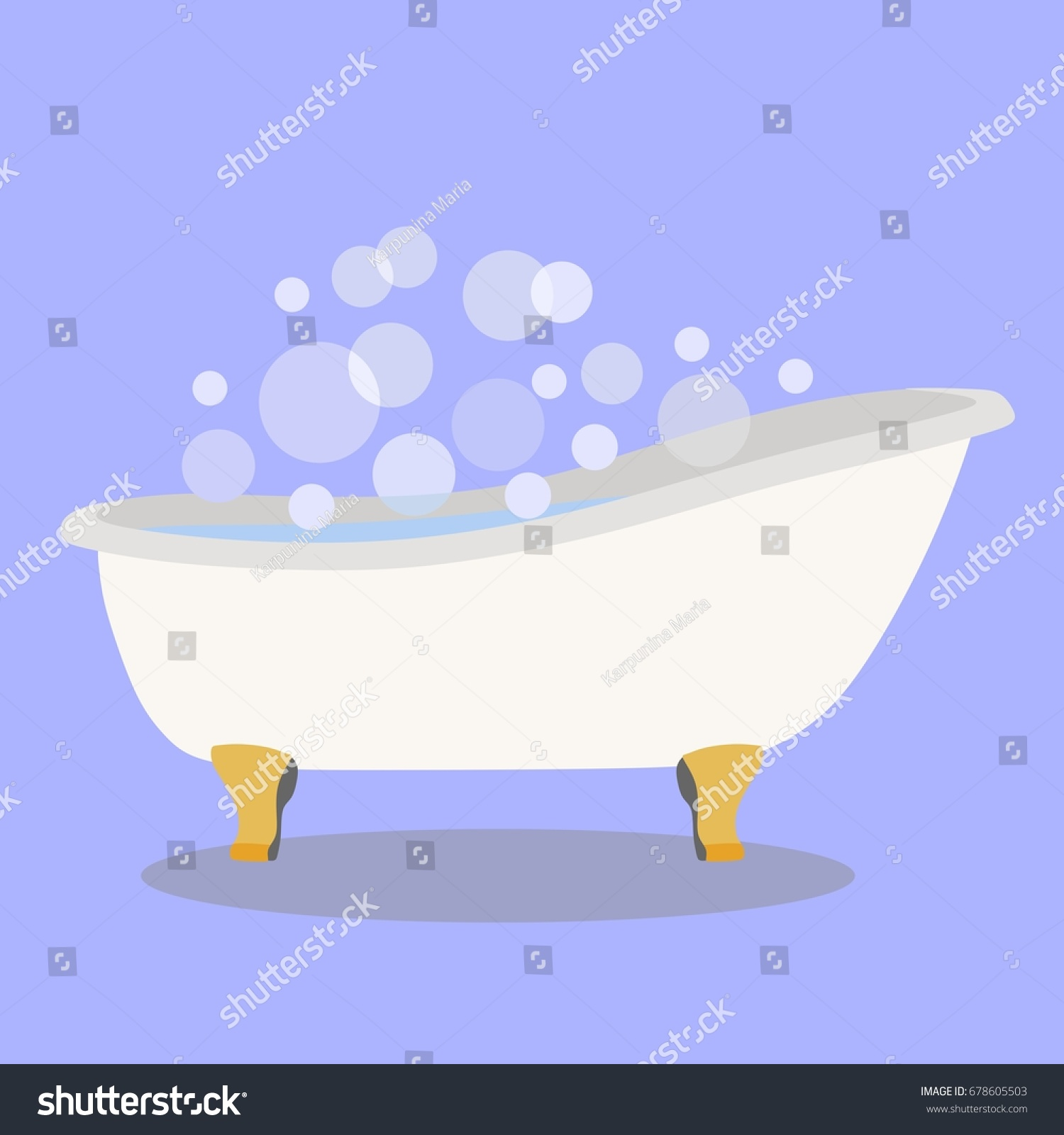 Bathtub Foam Bubbles Inside Stock Photo (Photo, Vector, Illustration ...