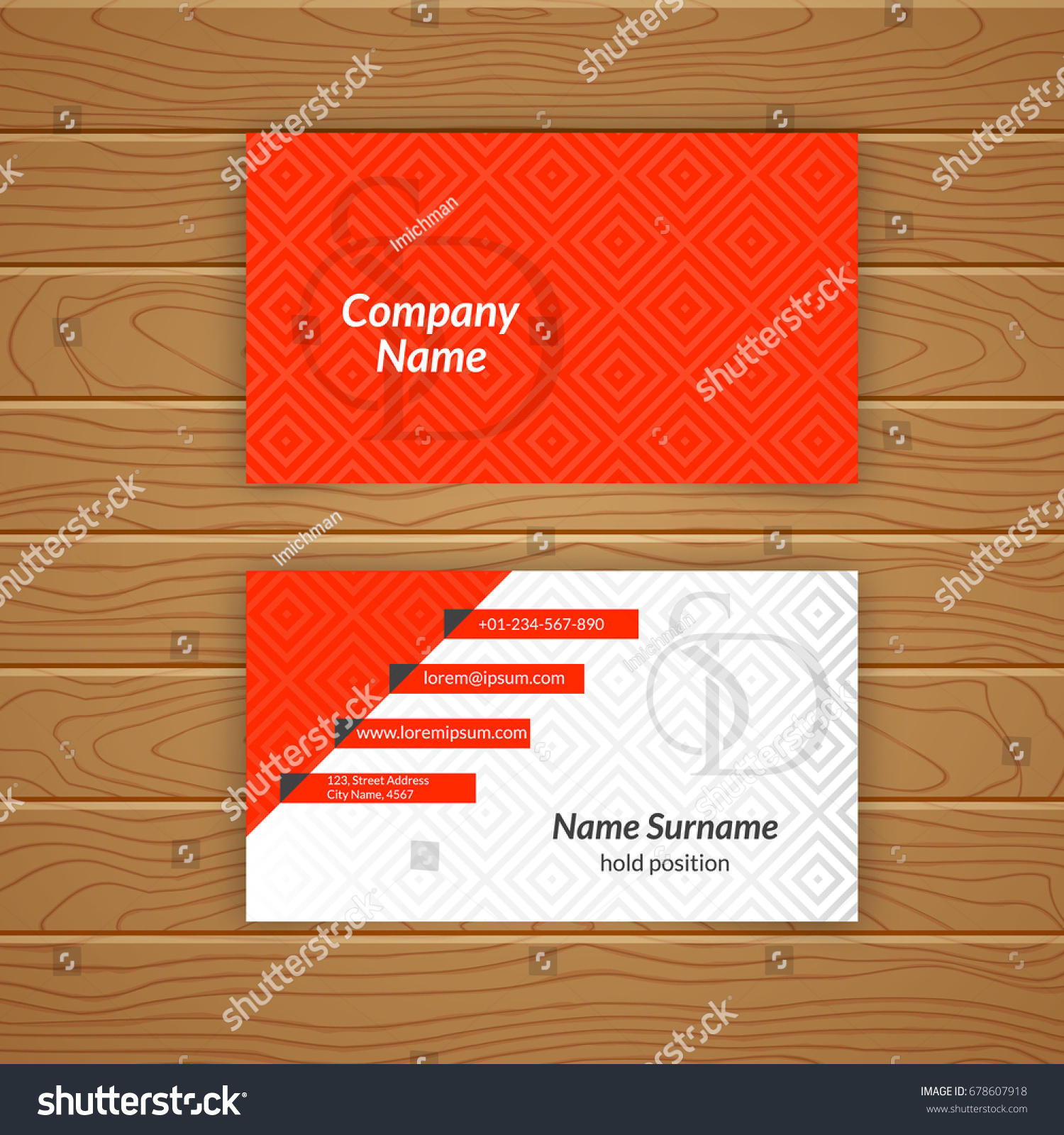 Business Card Blank Template Textured Background Stock Vector ...