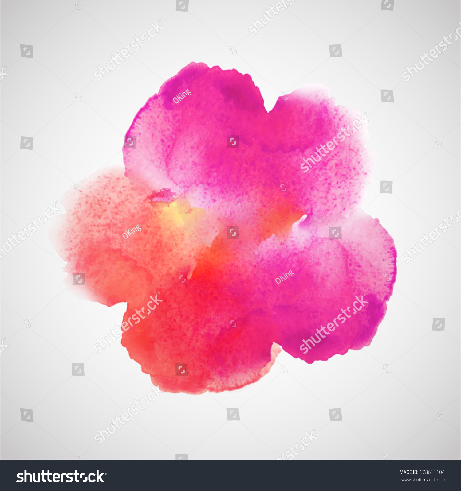 pink fuchsia watercolor spot color palette stock vector royalty