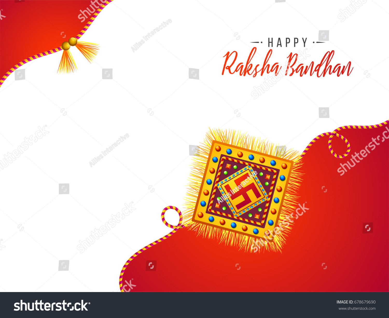 Happy Raksha Bandhan Celebration Greeting Card Stock Vector Royalty