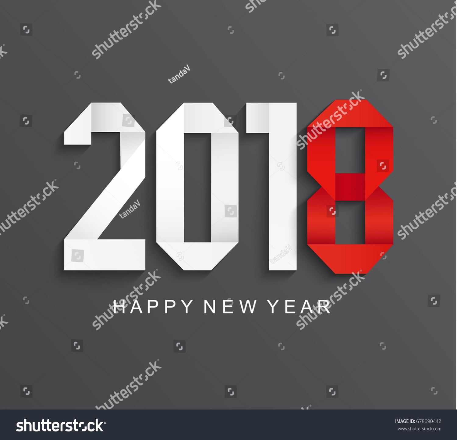 New 2018 Year Greeting Card Made Stock Vector 678690442 ... - photo#38
