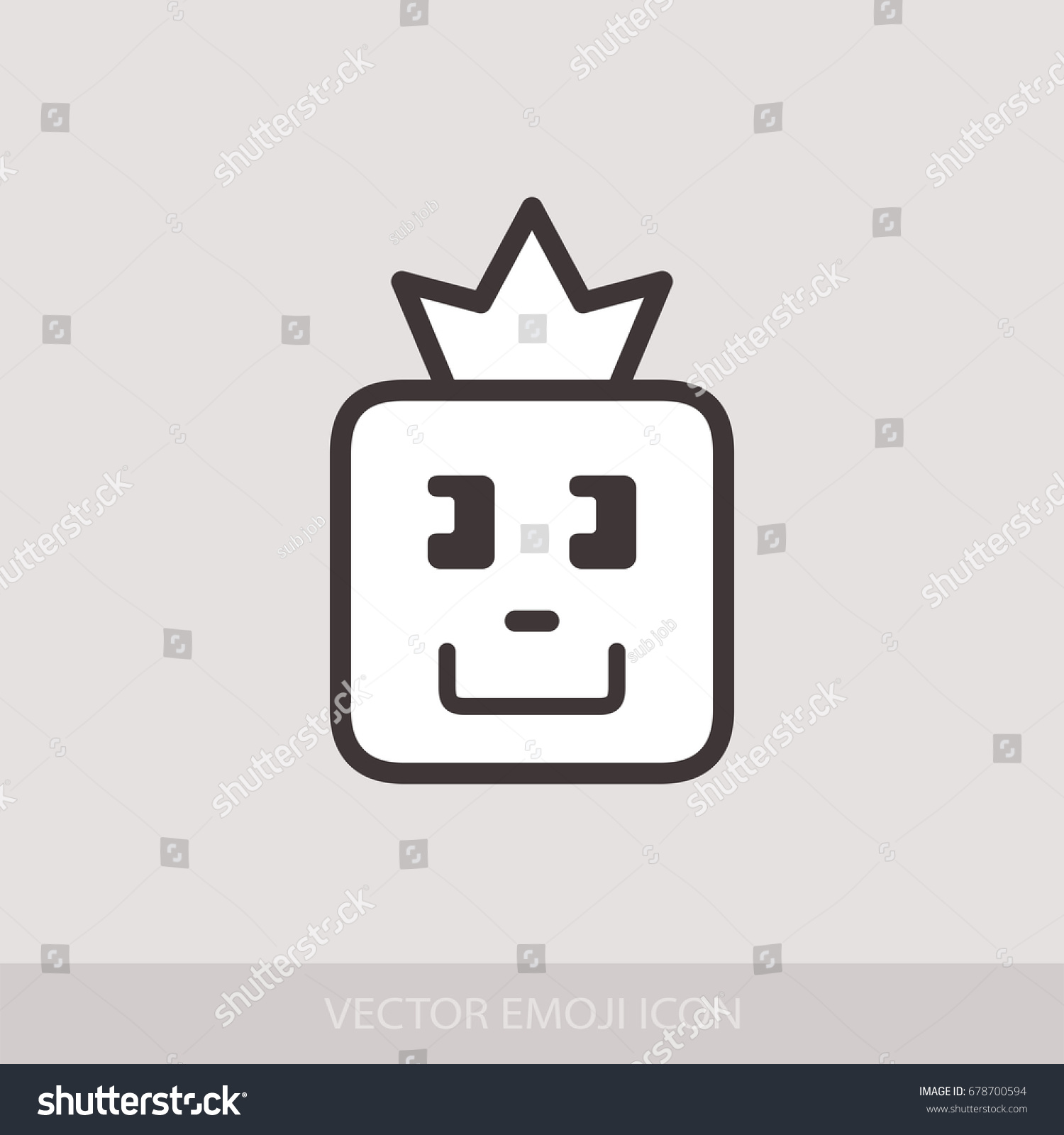 Graphic emoticon emoji face crown smile stock vector 678700594 graphic emoticon emoji face with a crown smile icons isolated vector illustration biocorpaavc Gallery