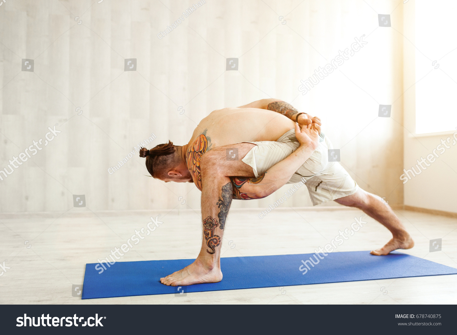 Man Practicing Advanced Yoga Series Yoga Stock Photo Edit Now 678740875