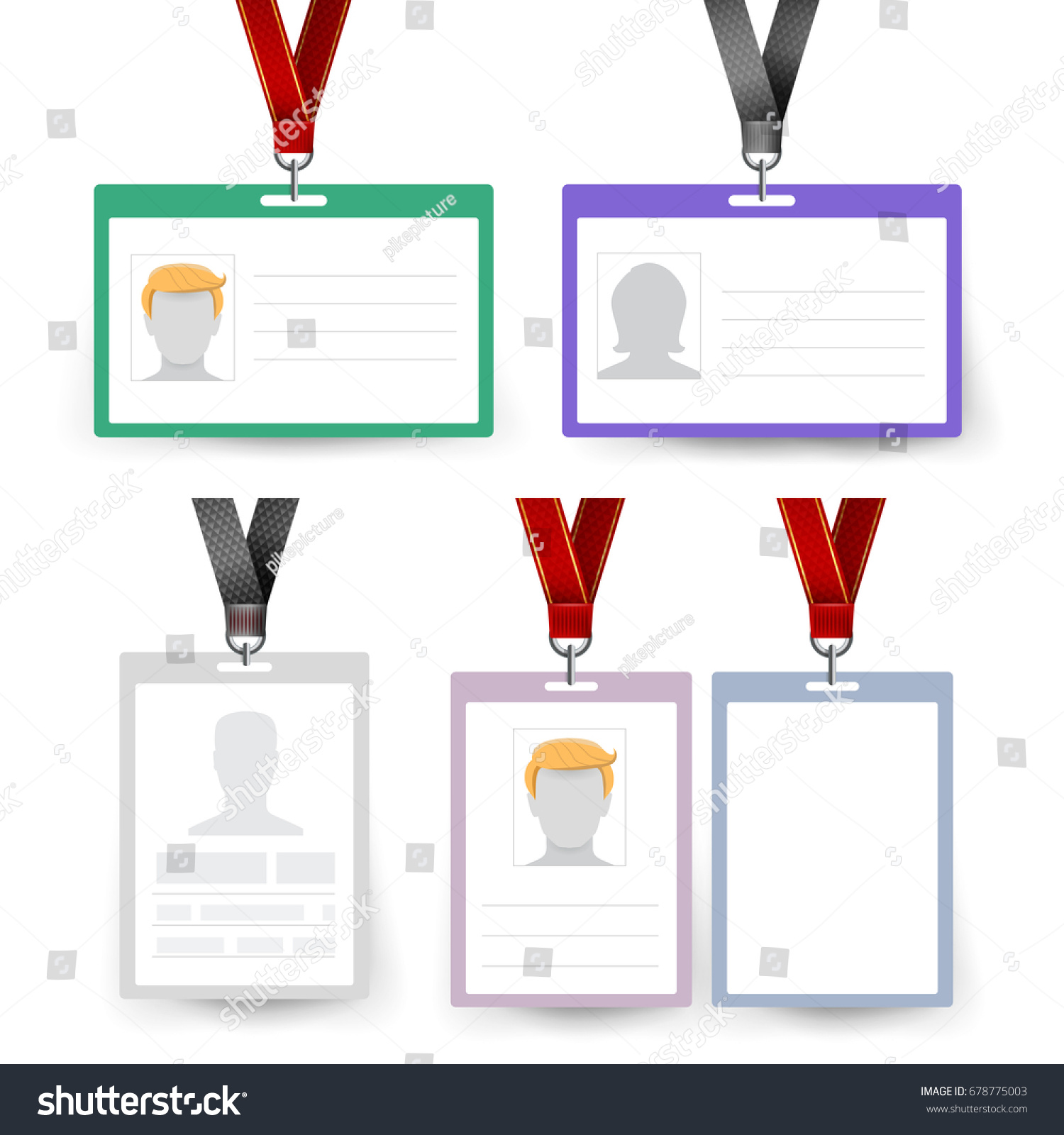 id badge set vector name tag stock vector royalty free 678775003