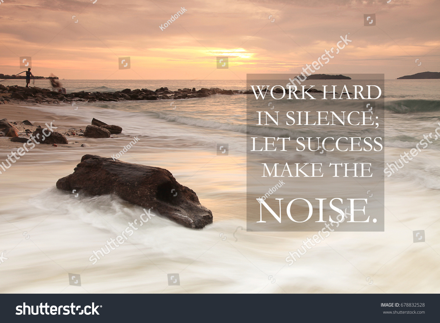 Blurry Sunset Beach Inspirational Quotes Work Stock Photo Edit Now