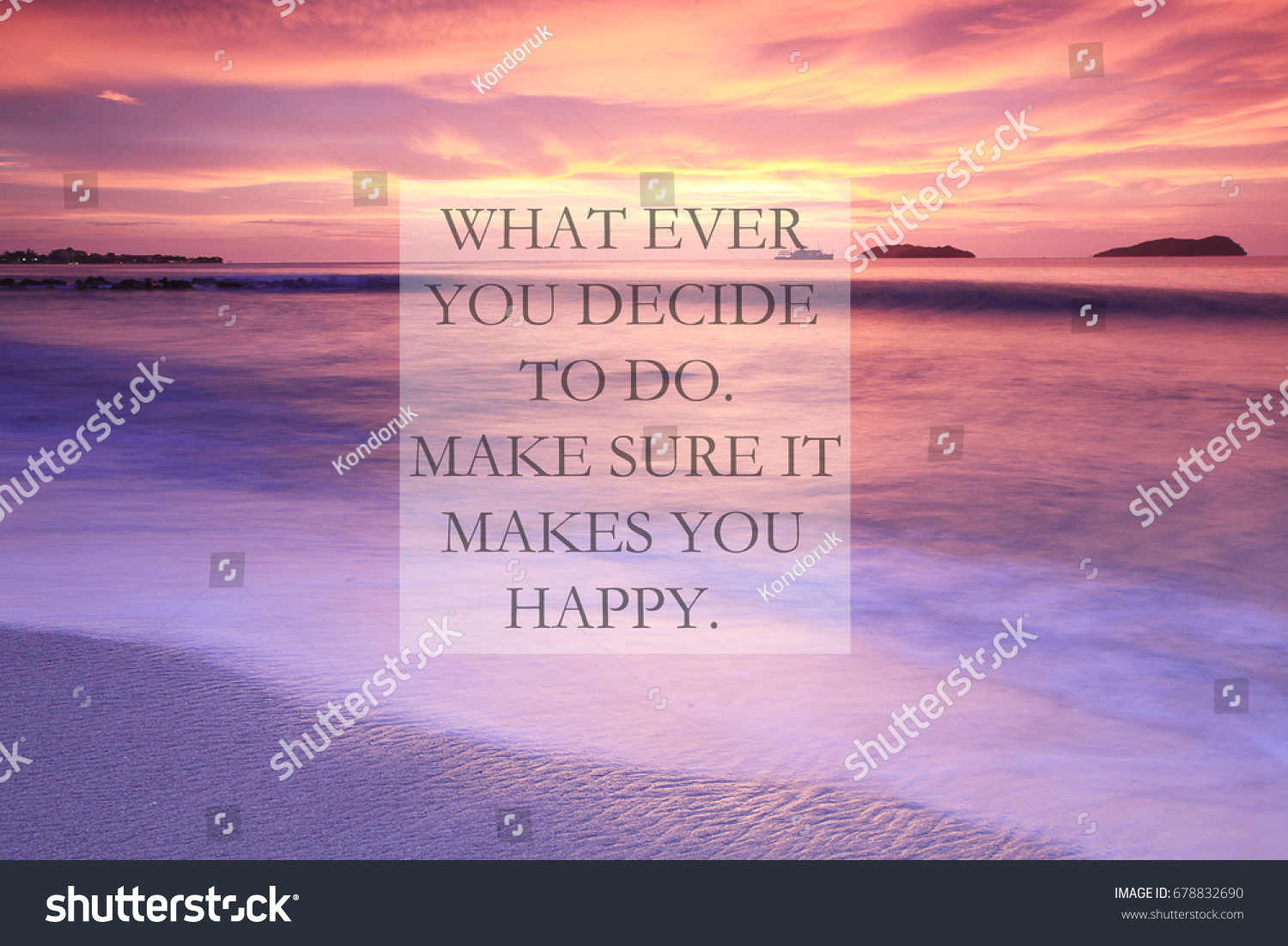 Blurry Sunset Beach Inspirational Quotes What Stock Photo Edit Now